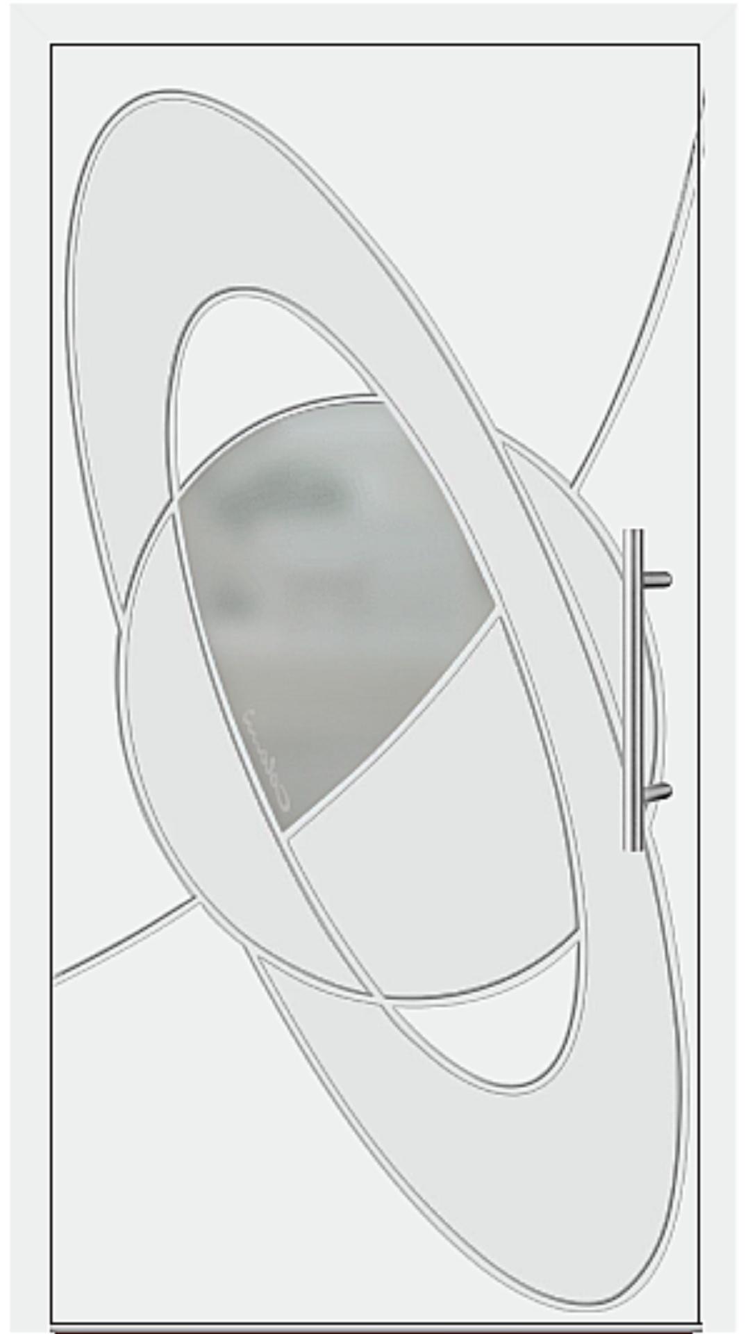 Aluminium Haustür Modell 6998-41 weiß