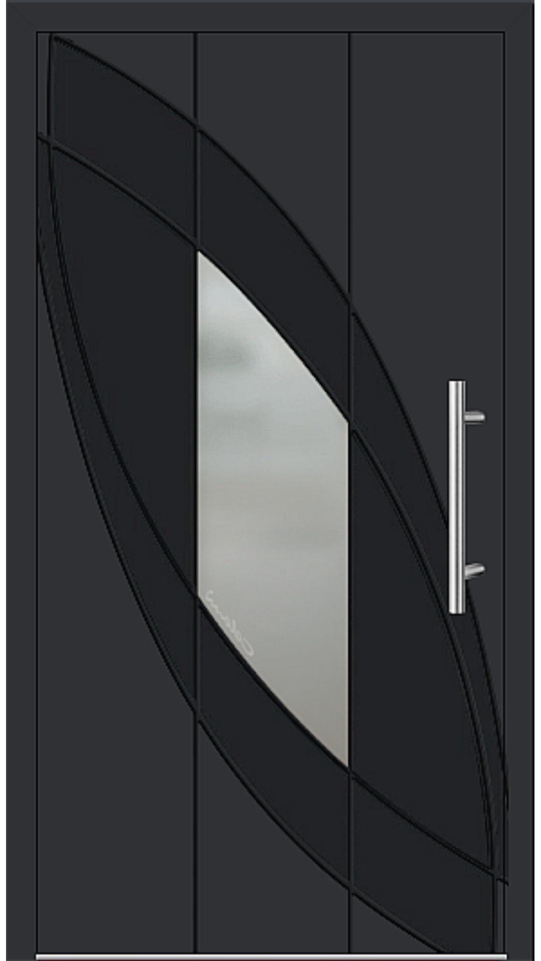 Aluminium Haustür Modell 6999-41 schwarz