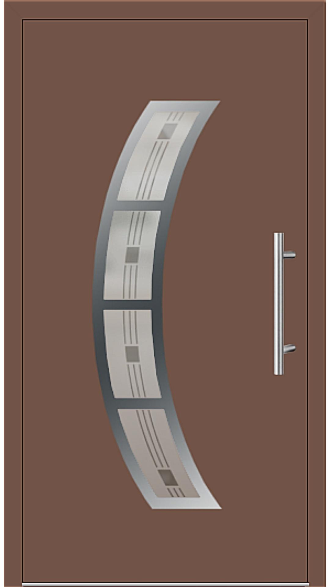 Aluminium Haustür Modell Andrea6E lehmbraun