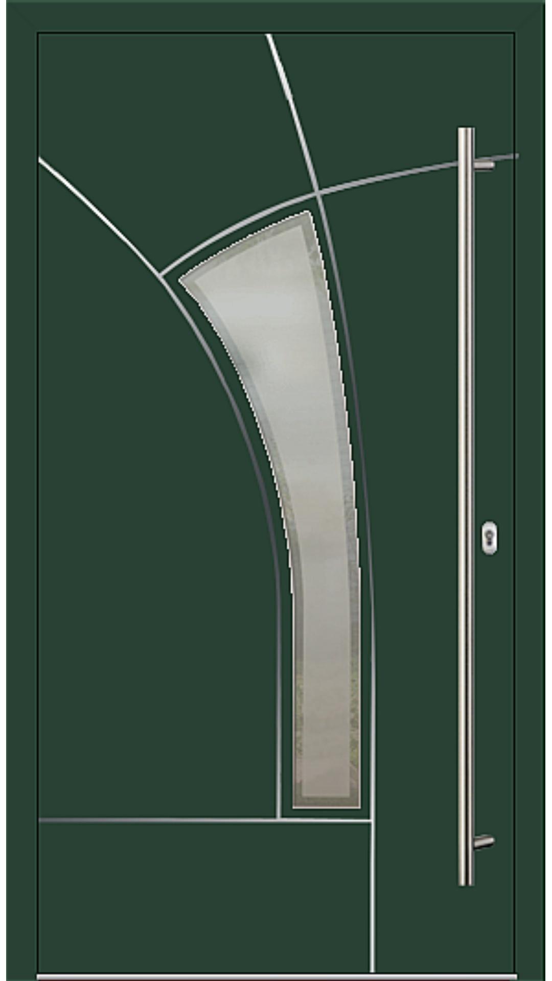 Aluminium Haustür Modell Fairy moosgrün