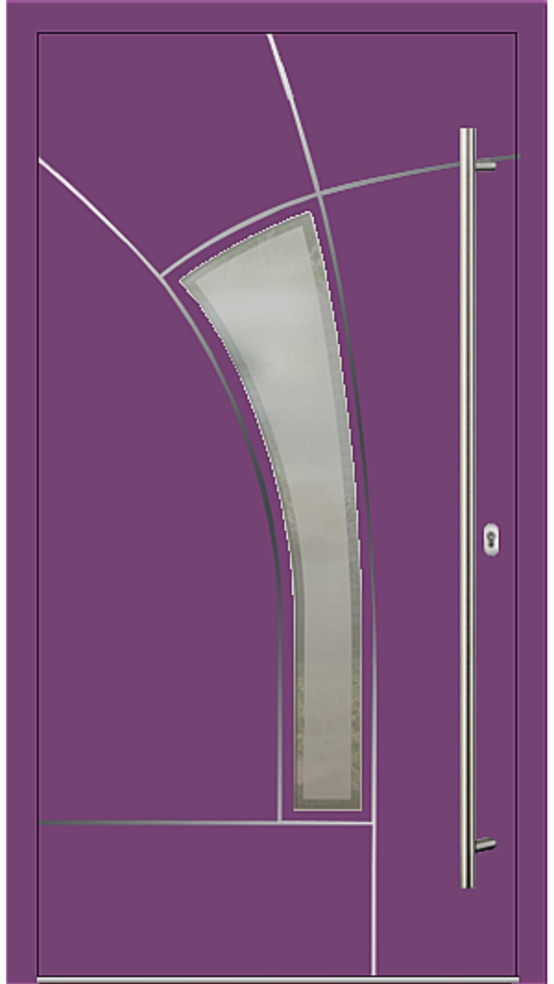 Aluminium Haustür Modell Fairy singalviolett
