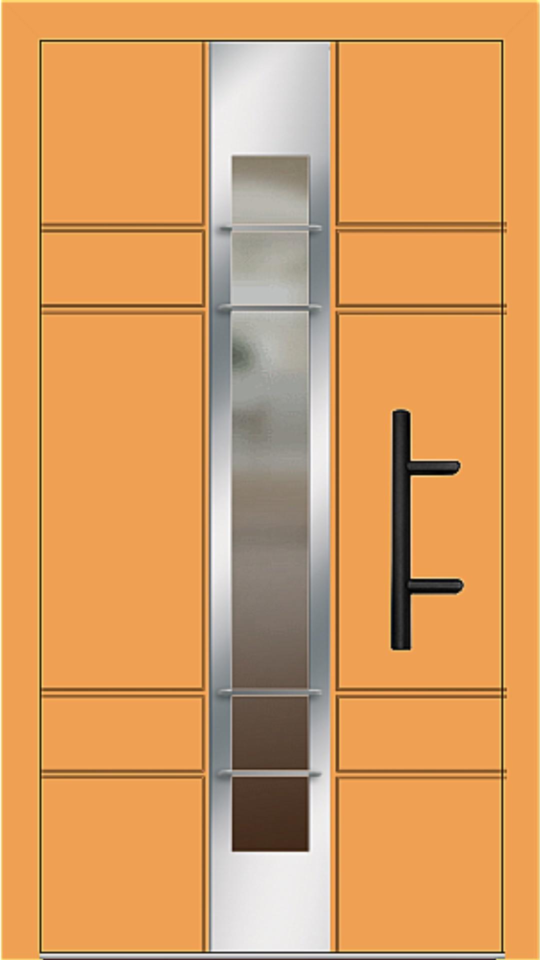 Holz-Alu Haustür Modell 62700 safrangelb