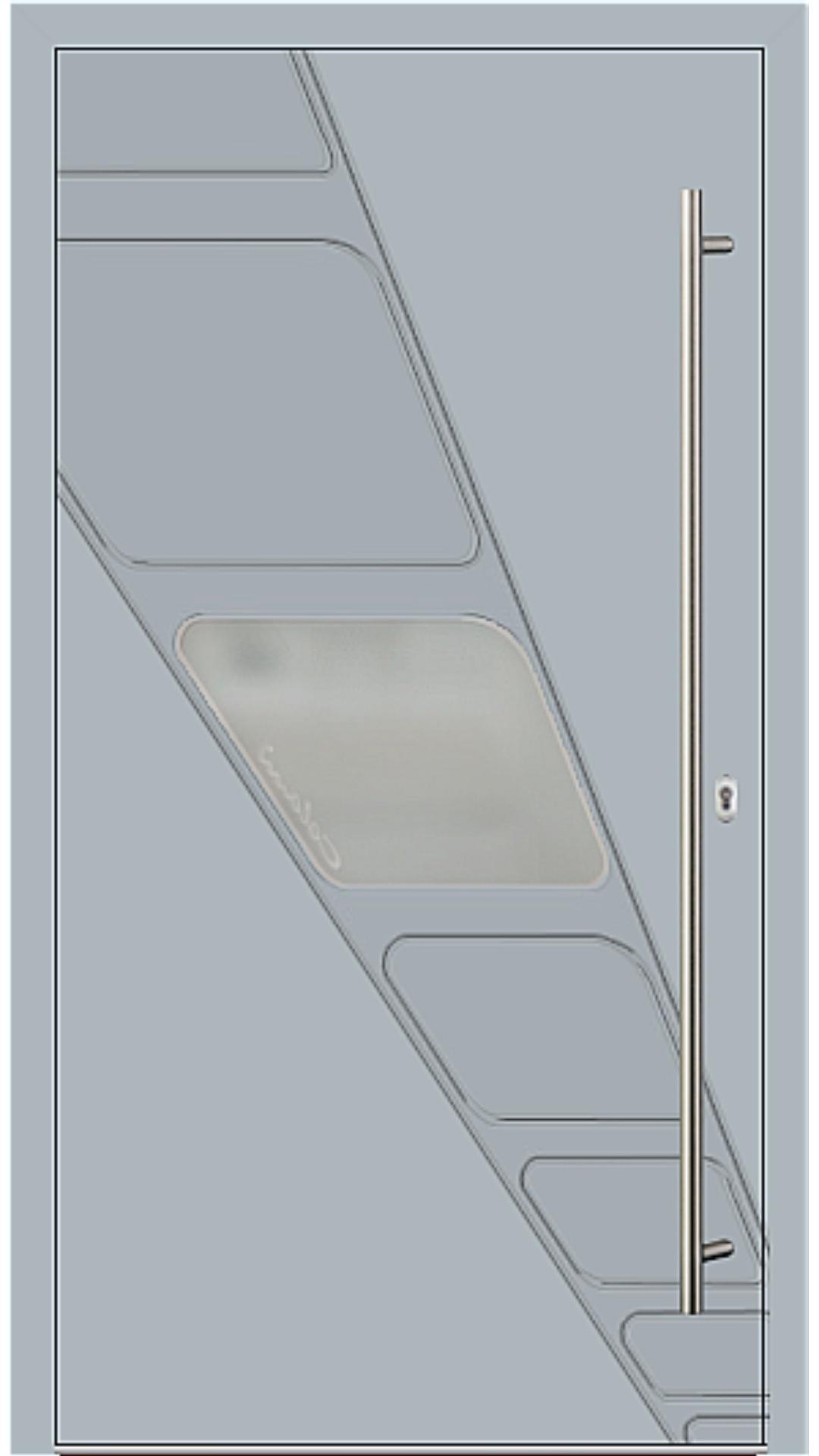 Holz-Alu Haustür Modell 62713 fehgrau