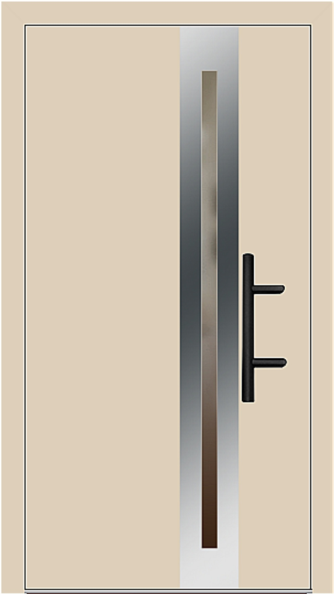 Holz-Alu Haustür Modell 66398 beige
