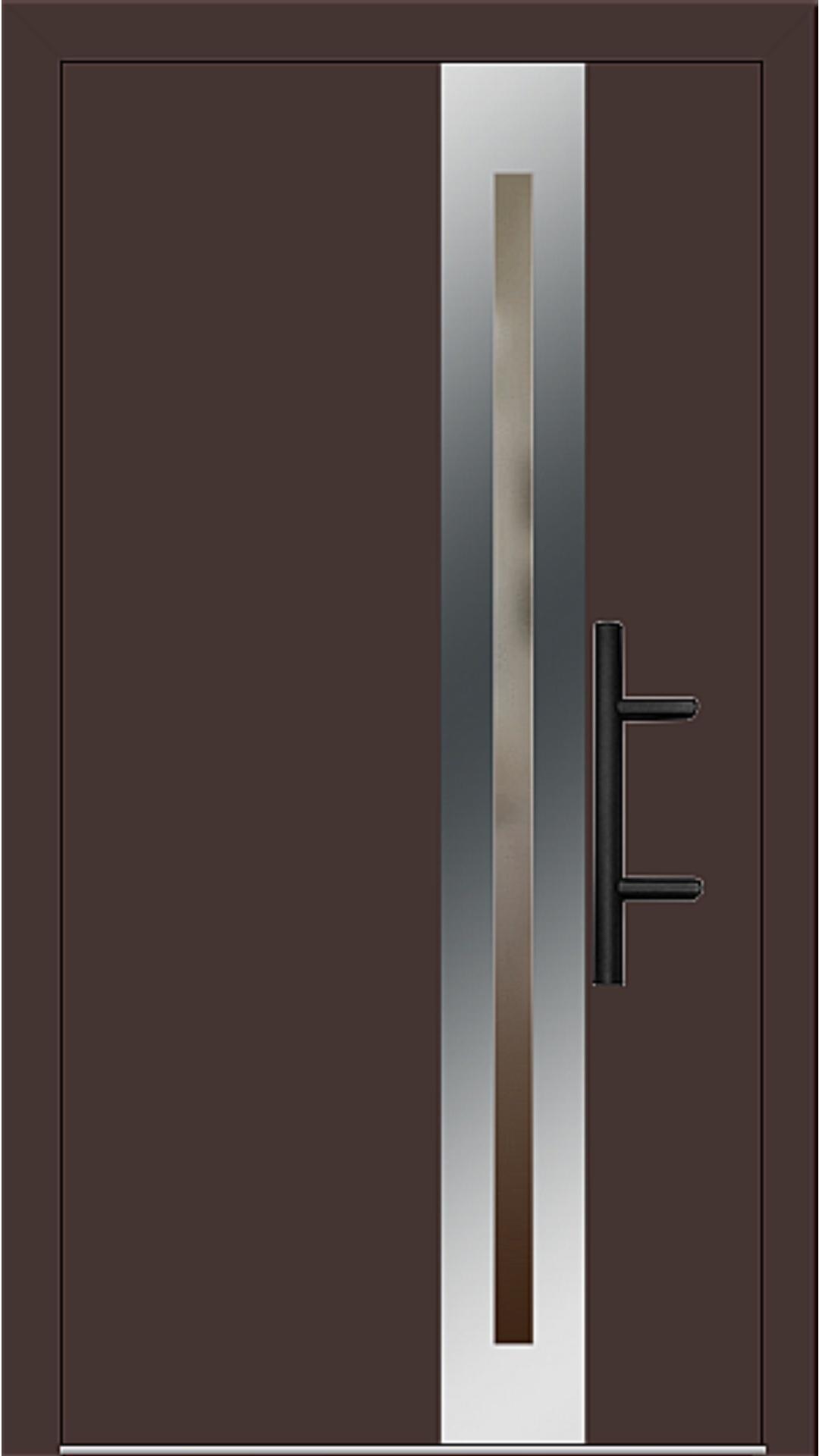 Holz-Alu Haustür Modell 66398 mahagonibraun