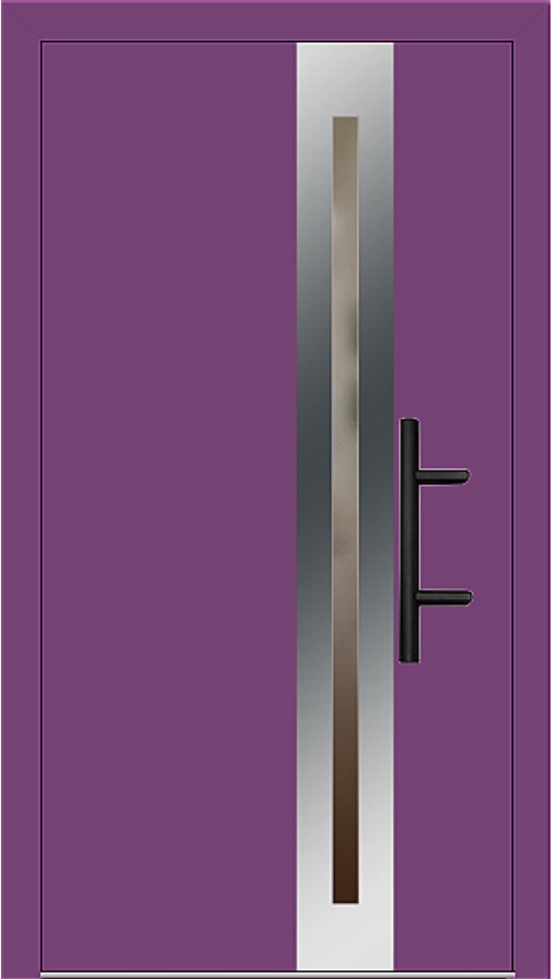 Holz-Alu Haustür Modell 66398 singalviolett