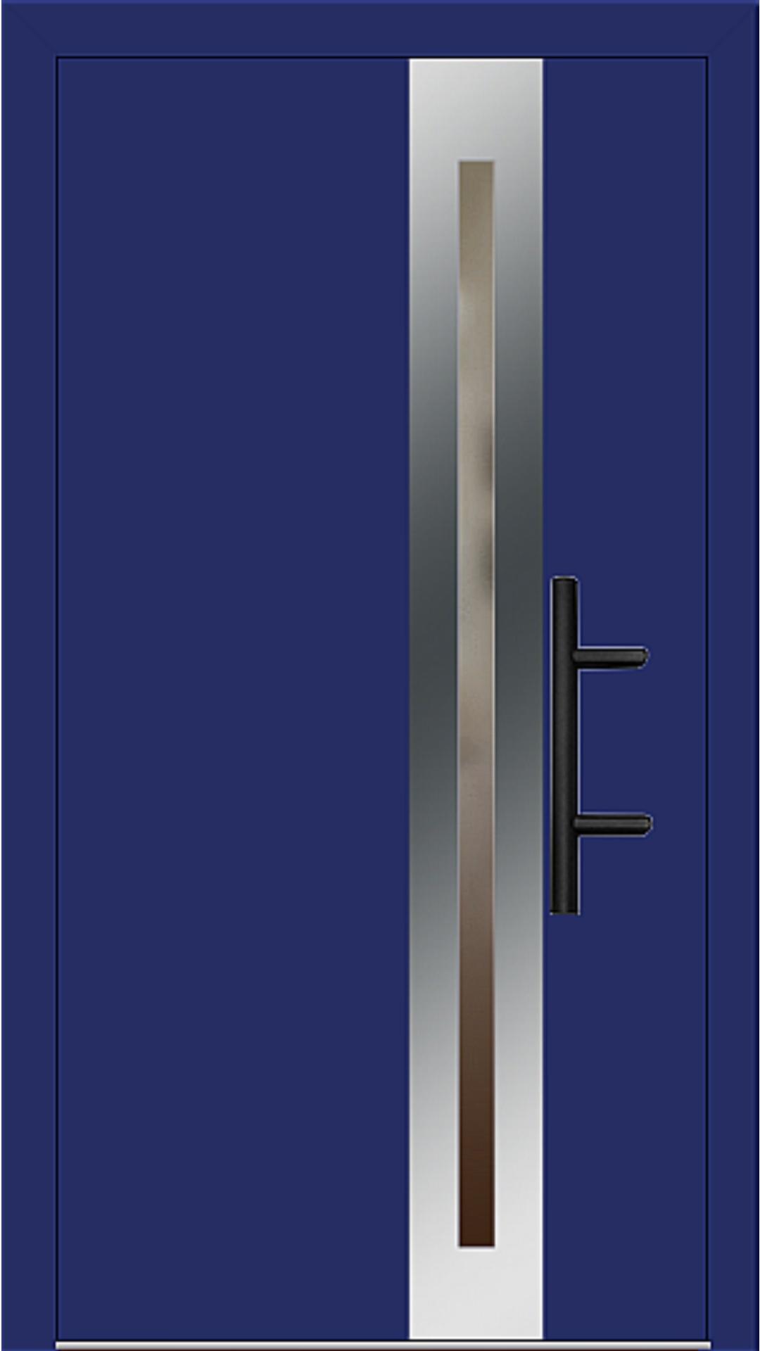 Holz-Alu Haustür Modell 66398 ultramarinblau