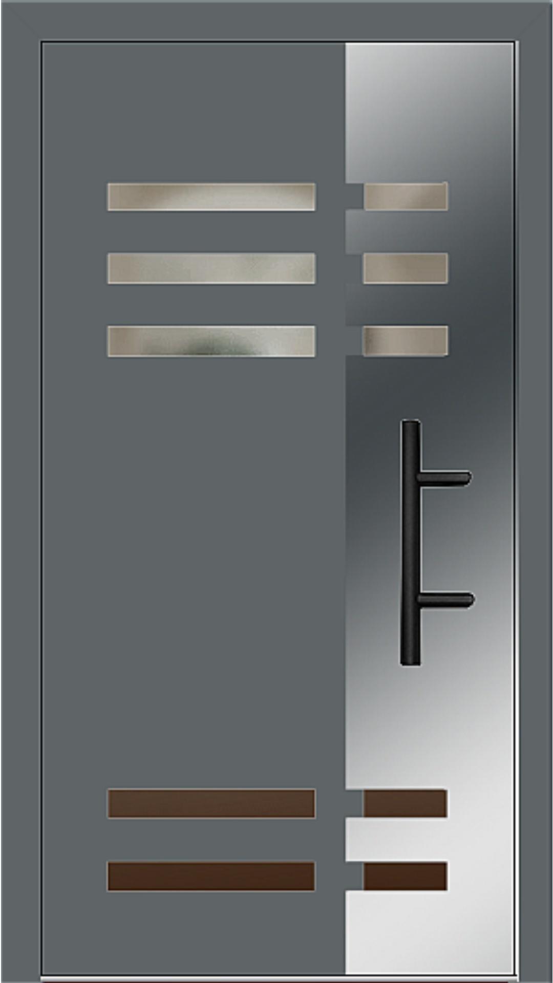 Holz-Alu Haustür Modell 66501 basaltgrau