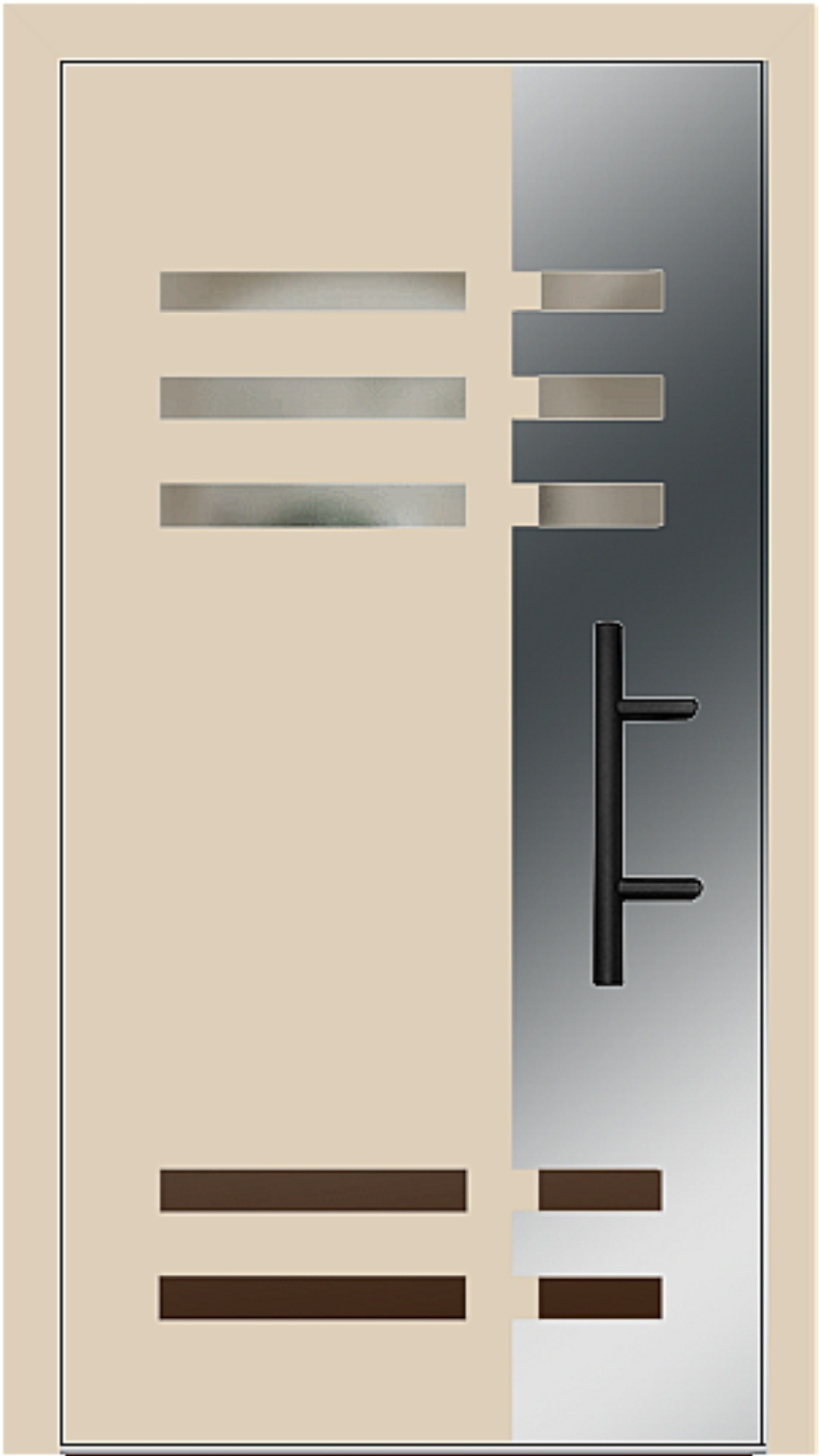 Holz-Alu Haustür Modell 66501 beige
