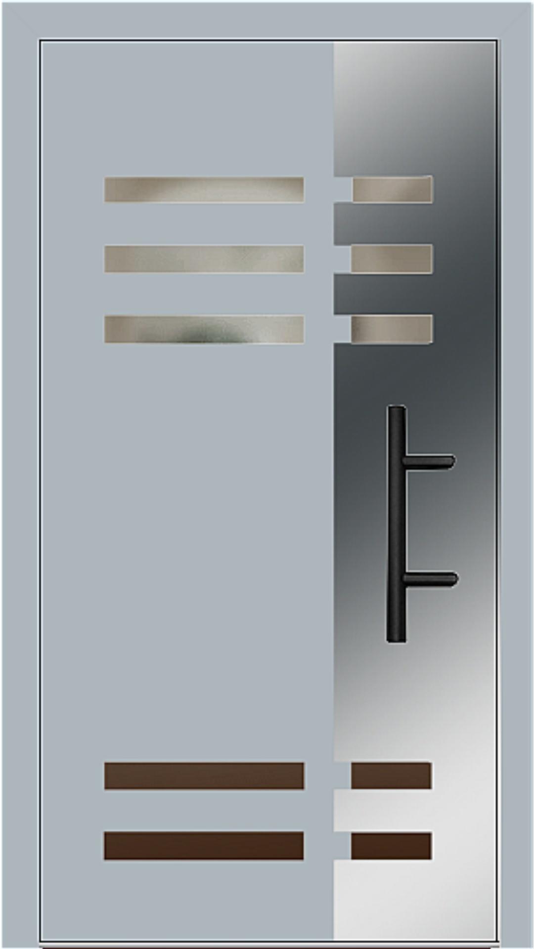 Holz-Alu Haustür Modell 66501 fehgrau