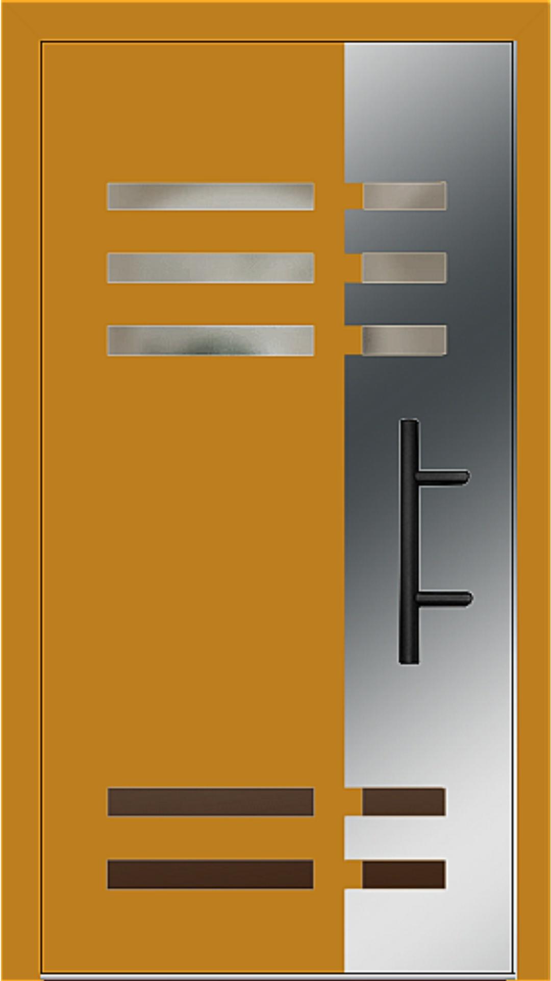 Holz-Alu Haustür Modell 66501 honiggelb