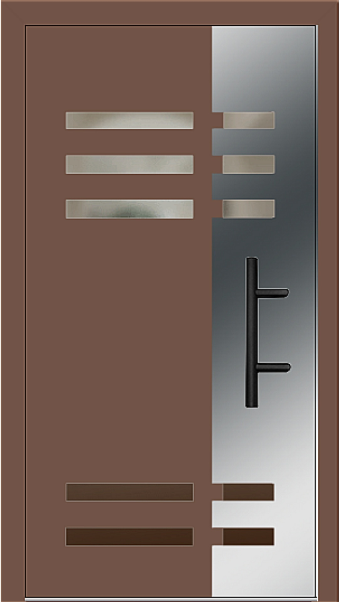 Holz-Alu Haustür Modell 66501 lehmbraun