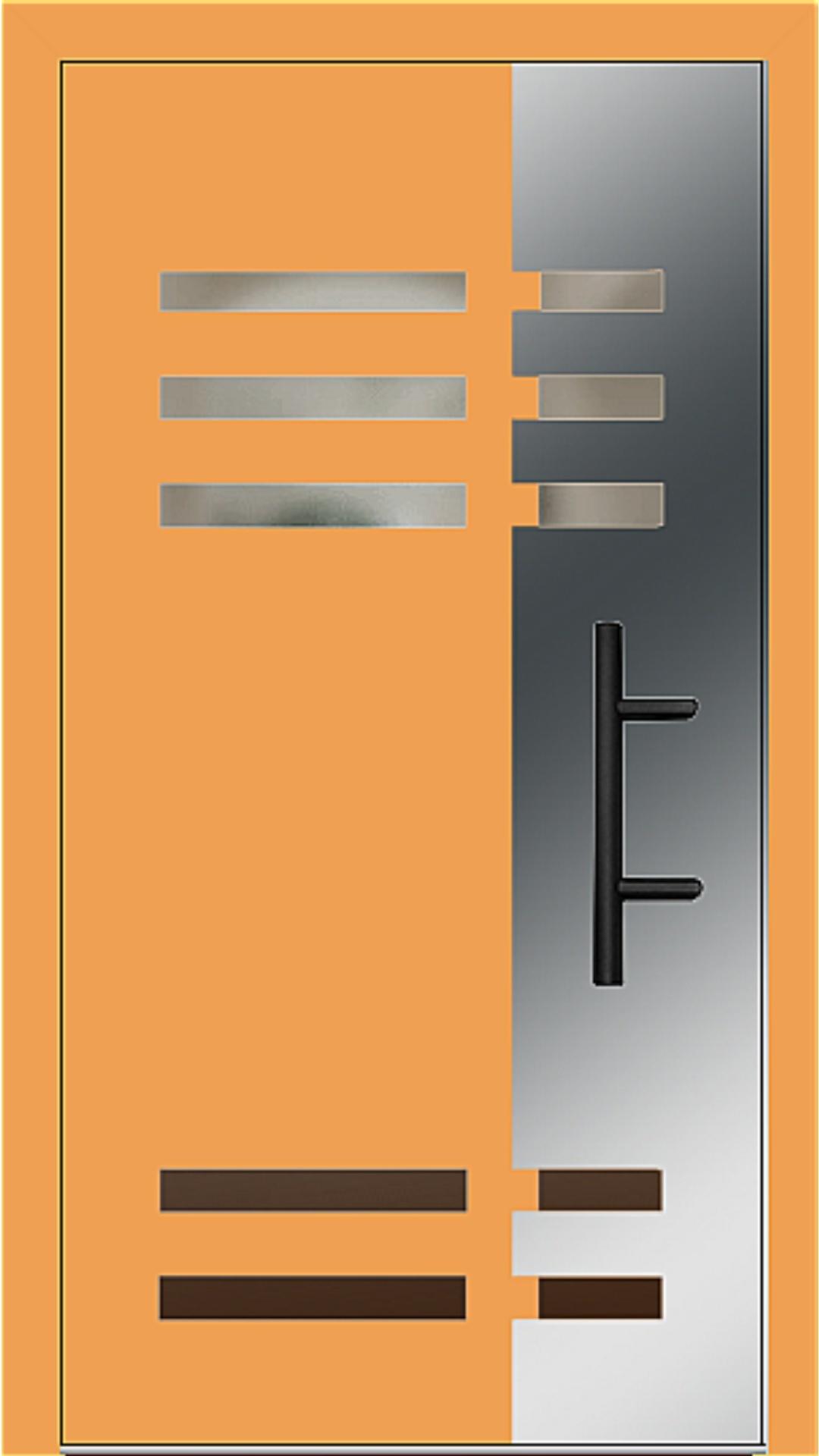 Holz-Alu Haustür Modell 66501 safrangelb