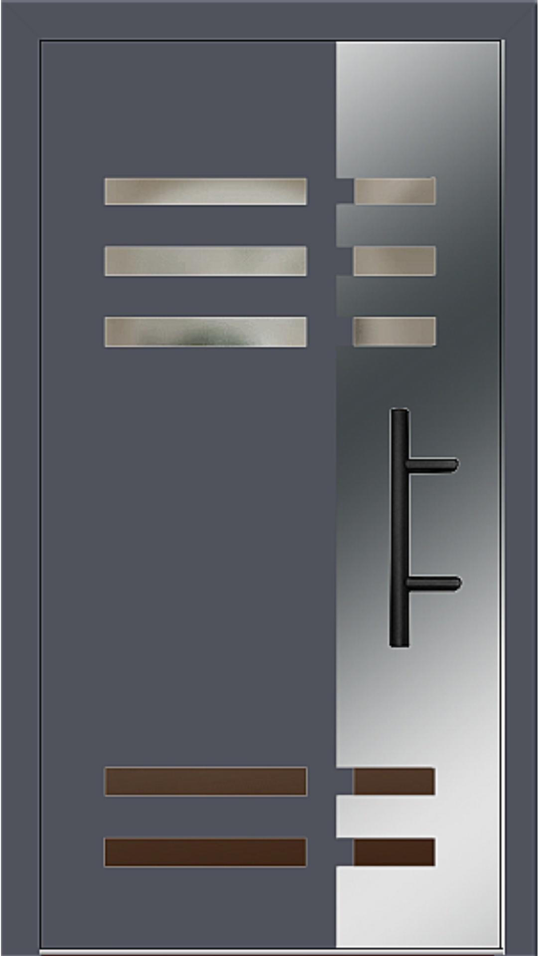 Holz-Alu Haustür Modell 66501 schiefergrau