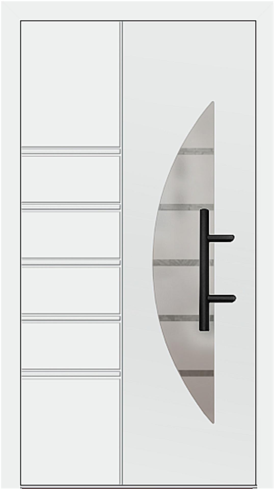 Holz-Alu Haustür Modell 66514 weiß
