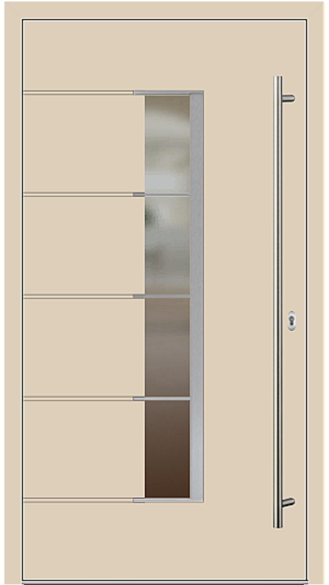 Holz-Alu Haustür Modell 66535 beige