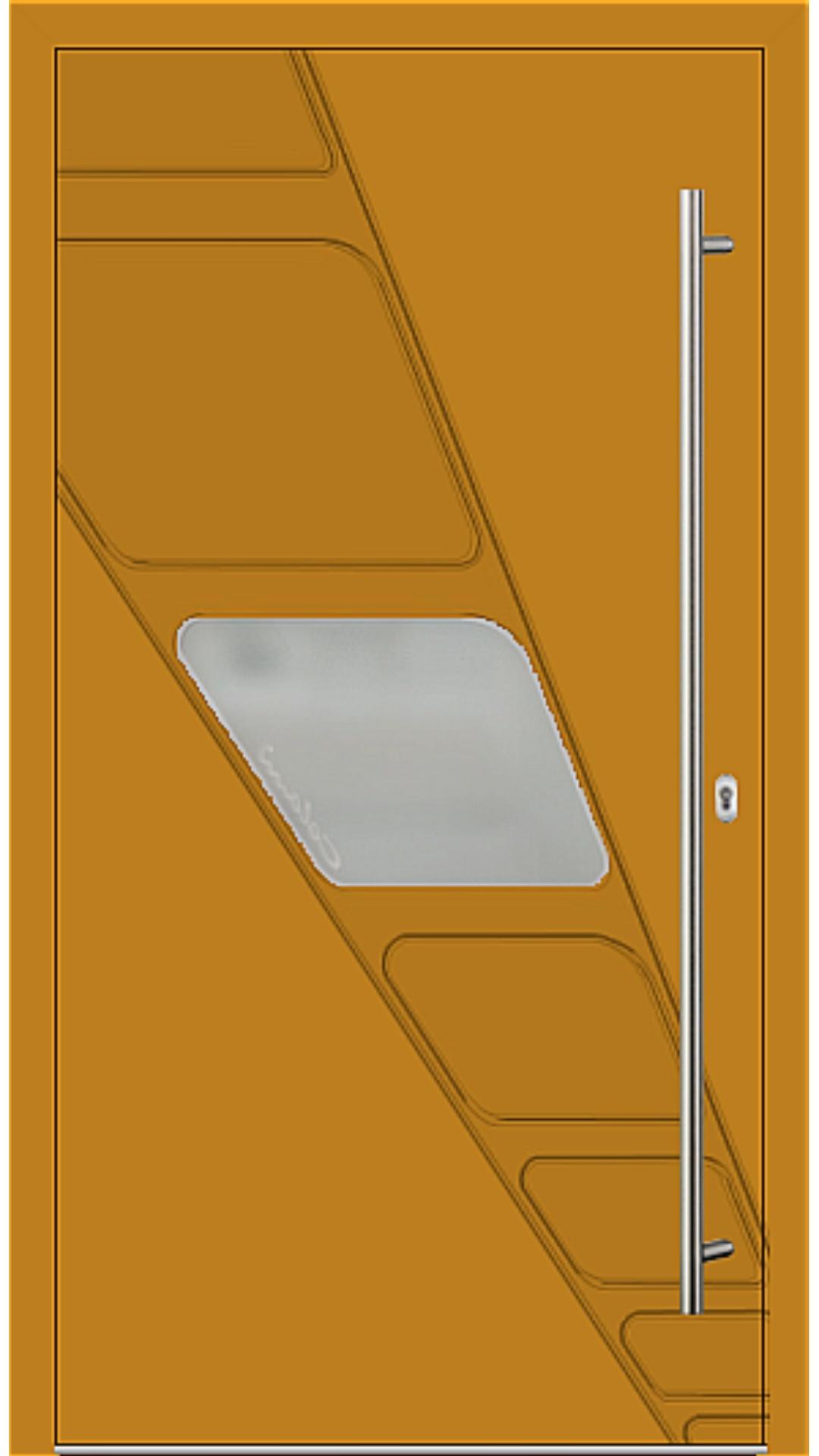 Holz-Alu Haustür Modell 66535 honiggelb