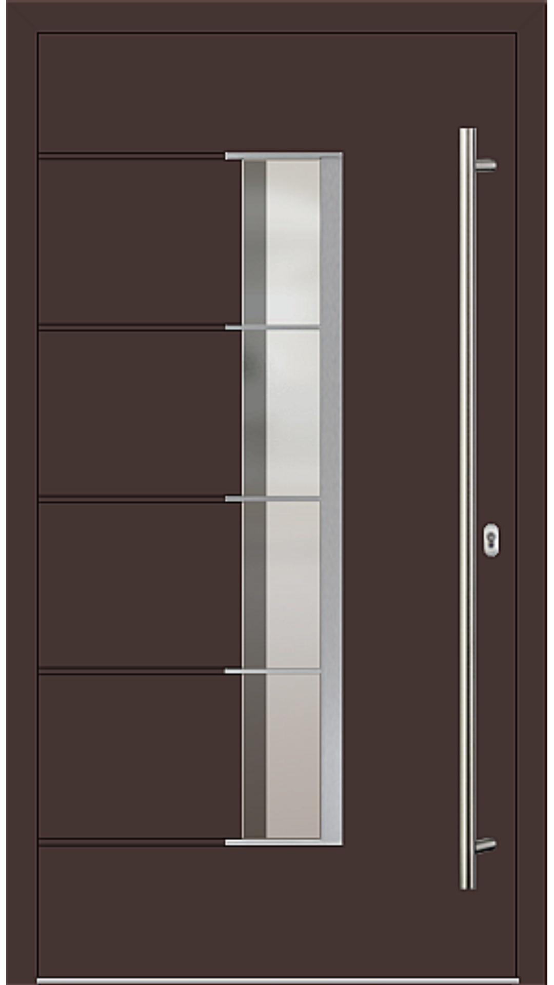 Holz-Alu Haustür Modell 66535 mahagonibraun