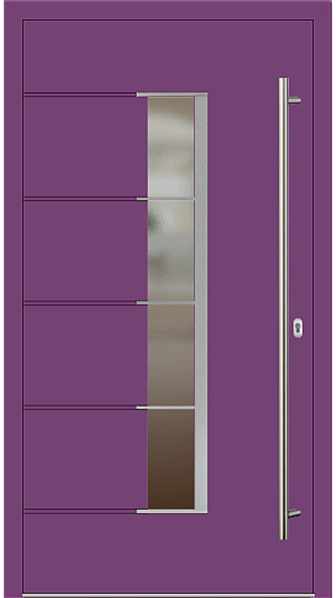 Holz-Alu Haustür Modell 66535 singalviolett
