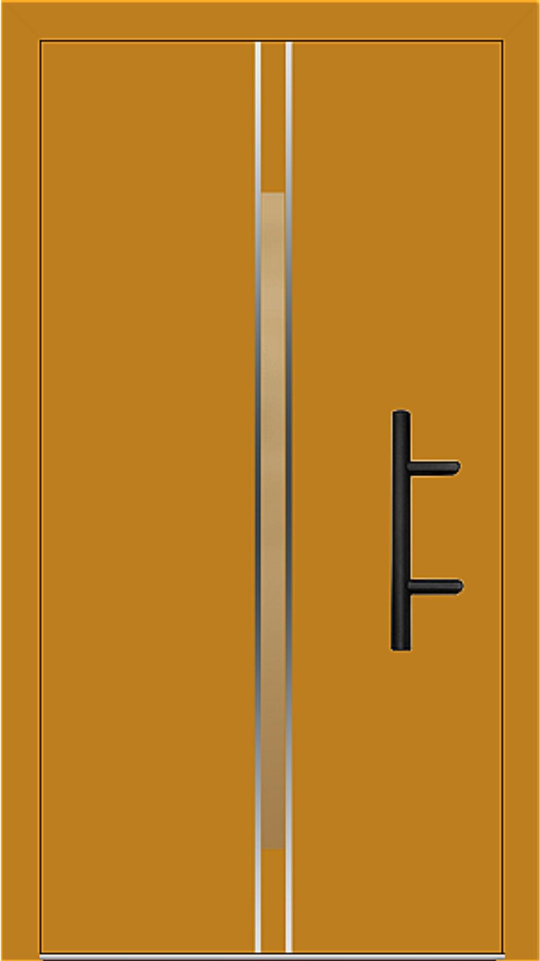 Holz-Alu Haustür Modell 66864 honiggelb