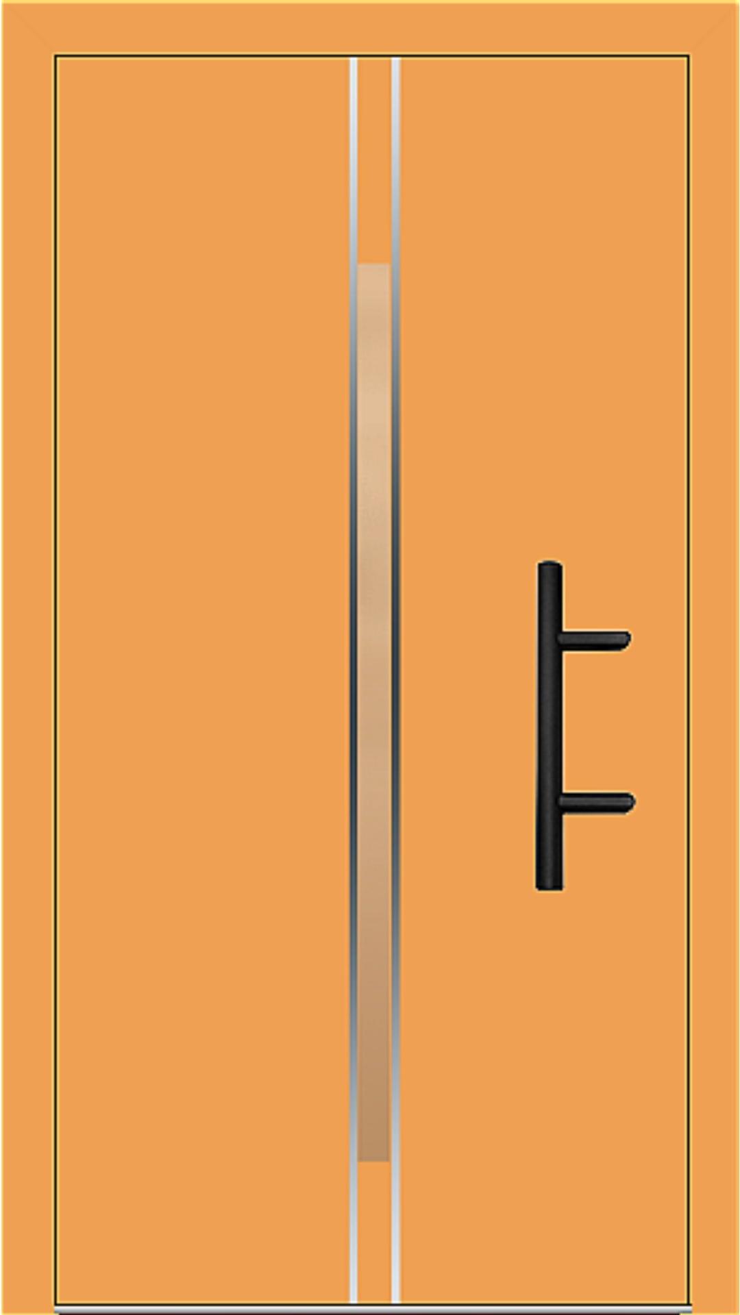 Holz-Alu Haustür Modell 66864 safrangelb