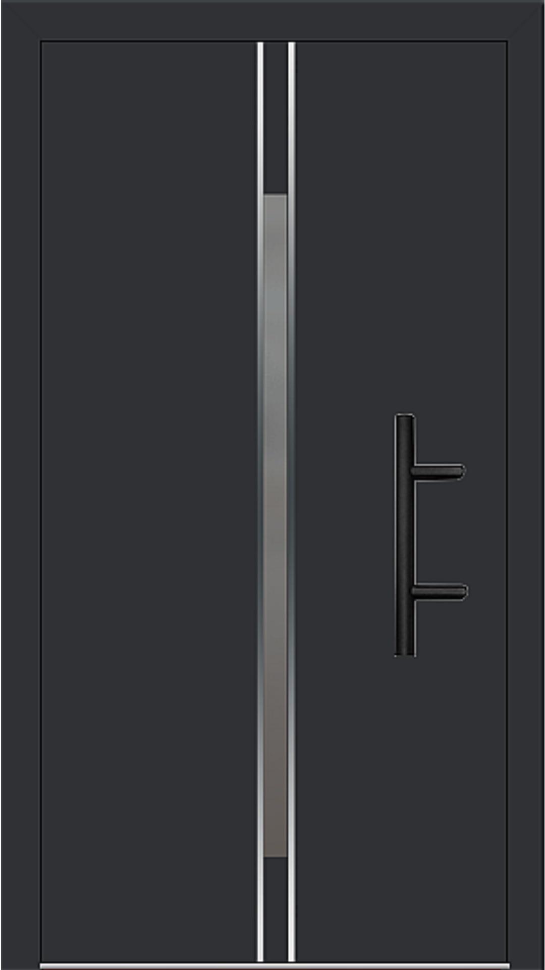 Holz-Alu Haustür Modell 66864 schwarz