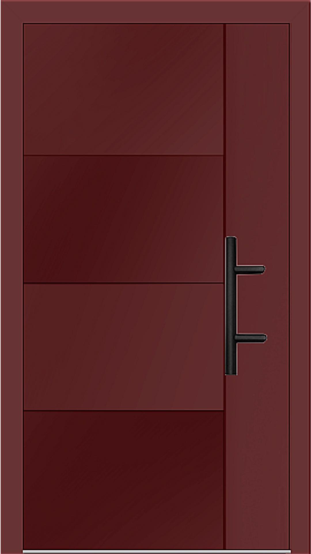 Holz-Alu Haustür Modell 66874 braunrot