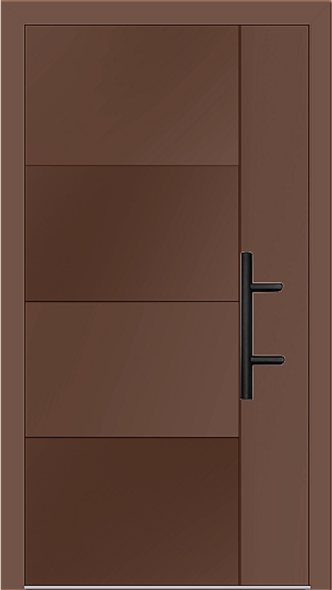 Holz-Alu Haustür Modell 66874 lehmbraun