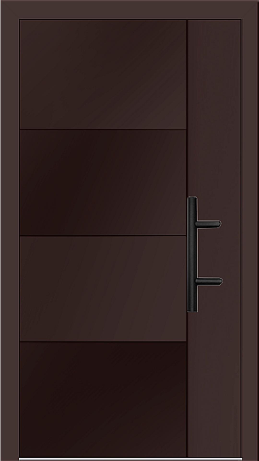 Holz-Alu Haustür Modell 66874 mahagonibraun