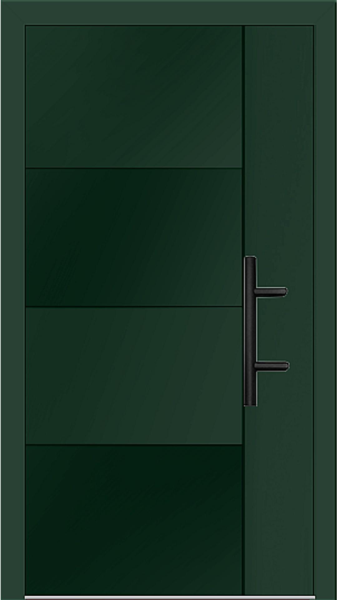 Holz-Alu Haustür Modell 66874 moosgrün