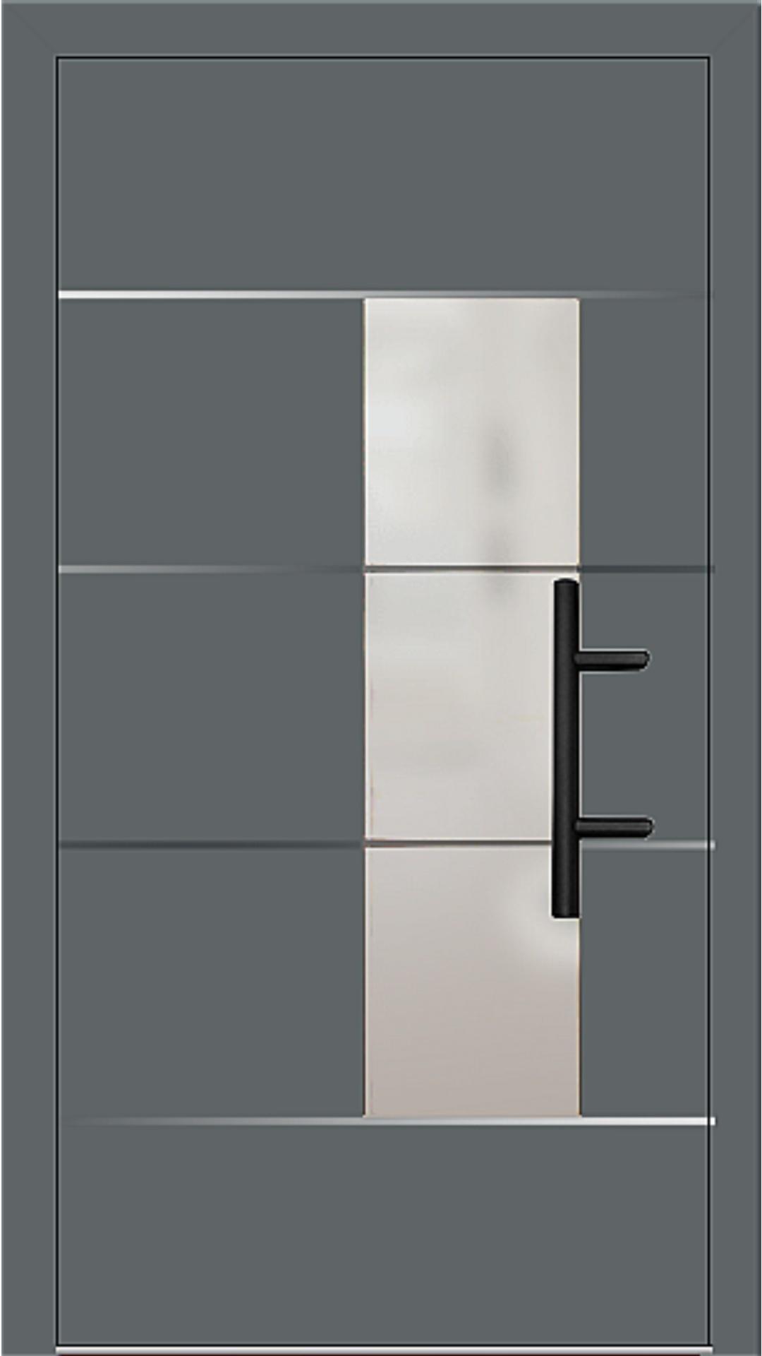 Holz-Alu Haustür Modell 66878 basaltgrau