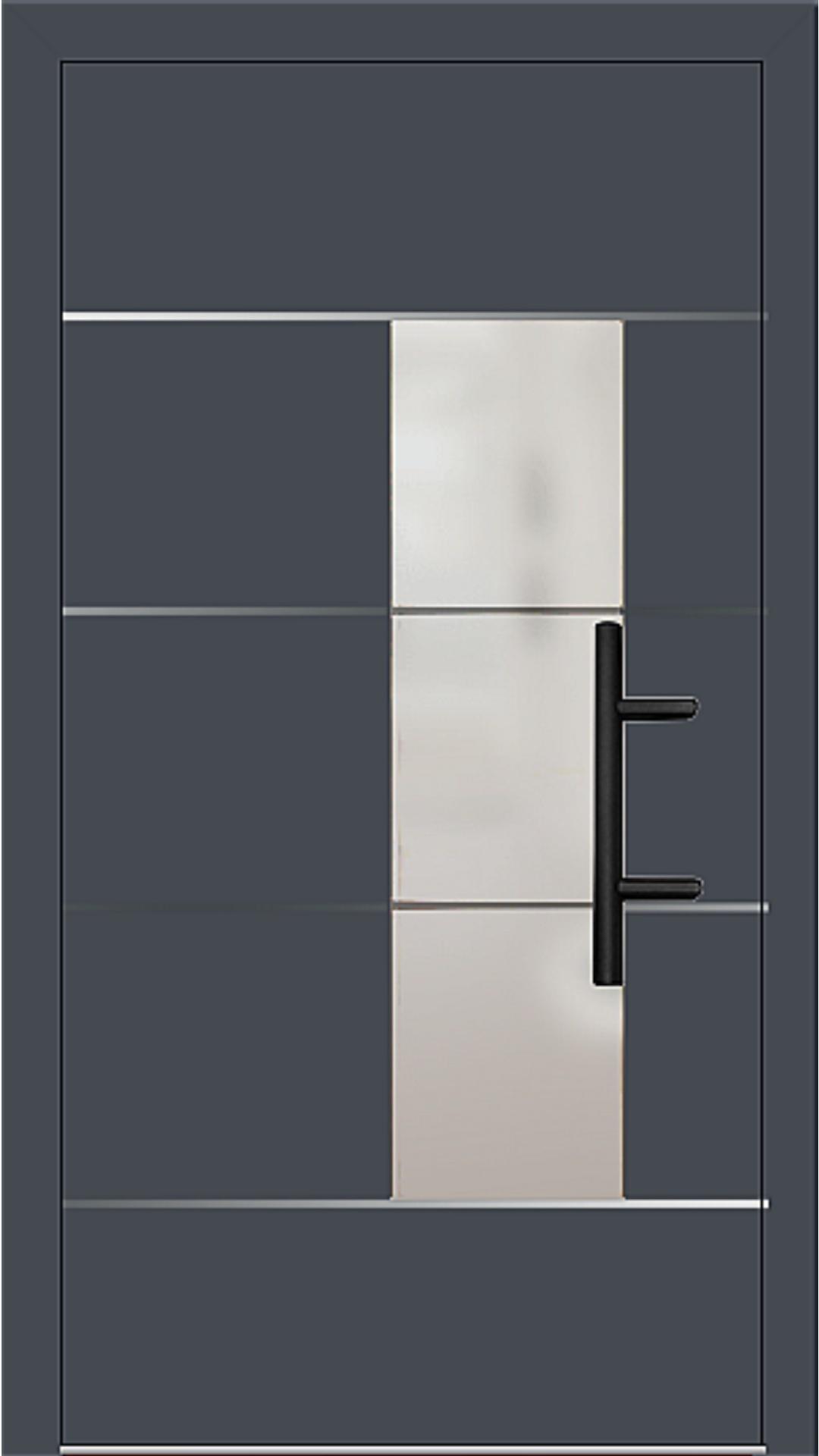 Holz-Alu Haustür Modell 66878 graphitgrau