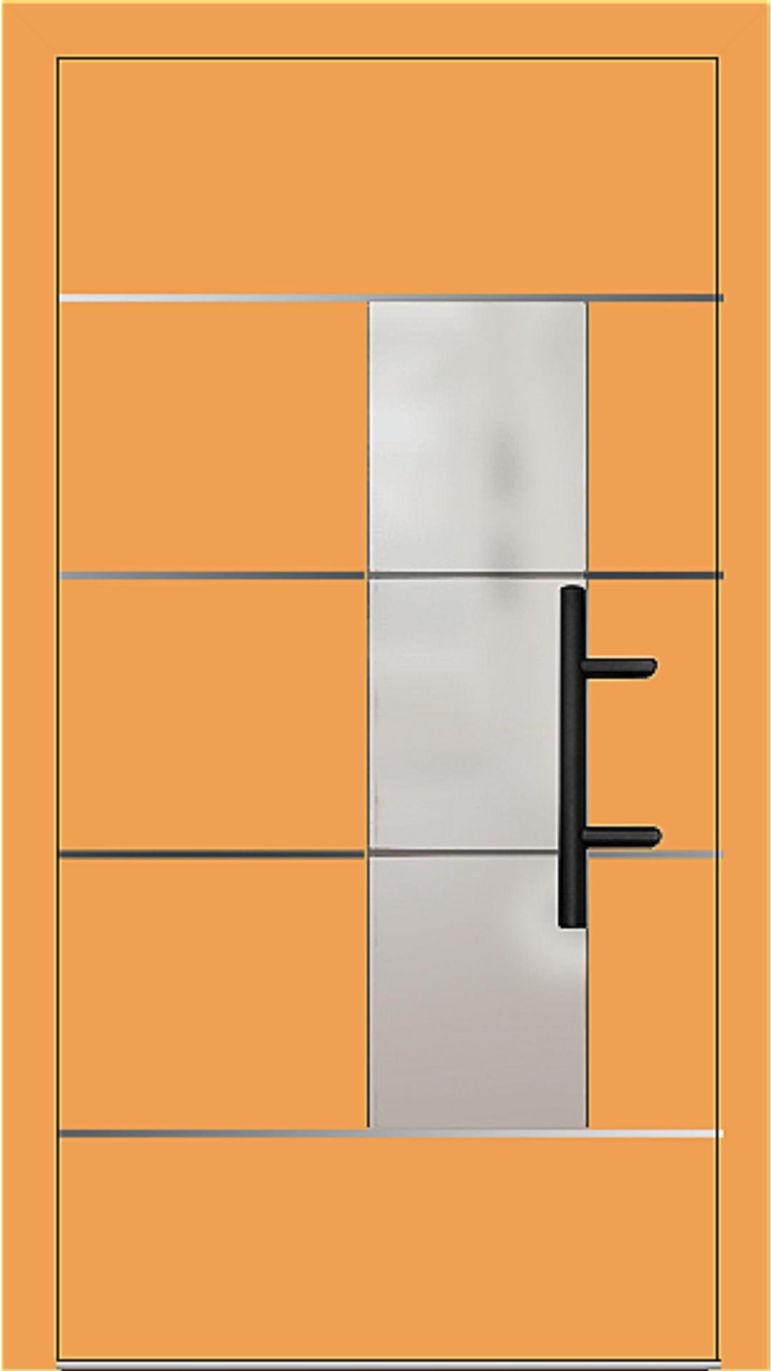 Holz-Alu Haustür Modell 66878 safrangelb