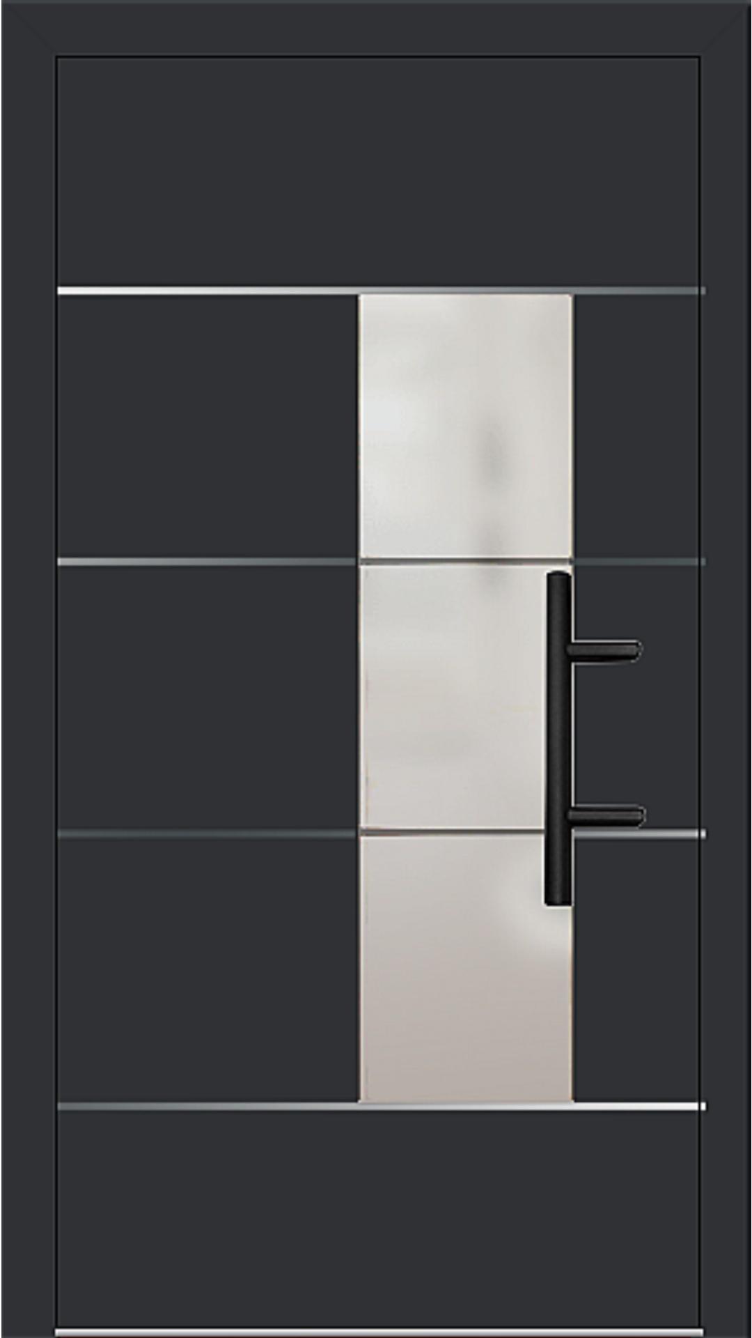 Holz-Alu Haustür Modell 66878 schwarz