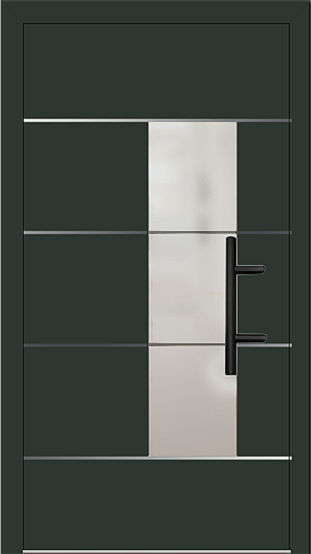 Holz-Alu Haustür Modell 66878 tannengrün