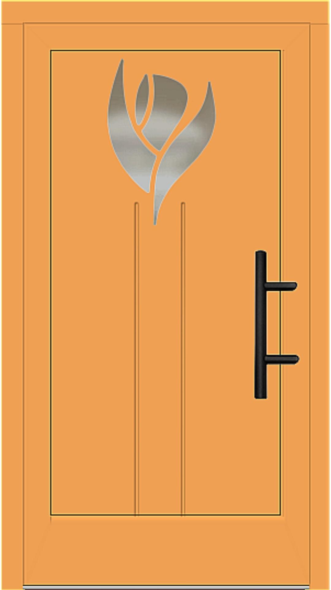 Holz Haustür Modell 51020 safrangelb