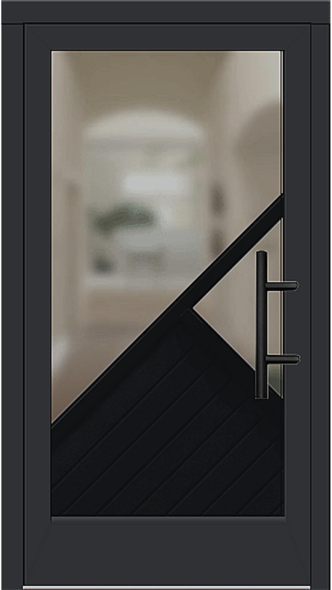 Holz Haustür Modell 5530 schwarz