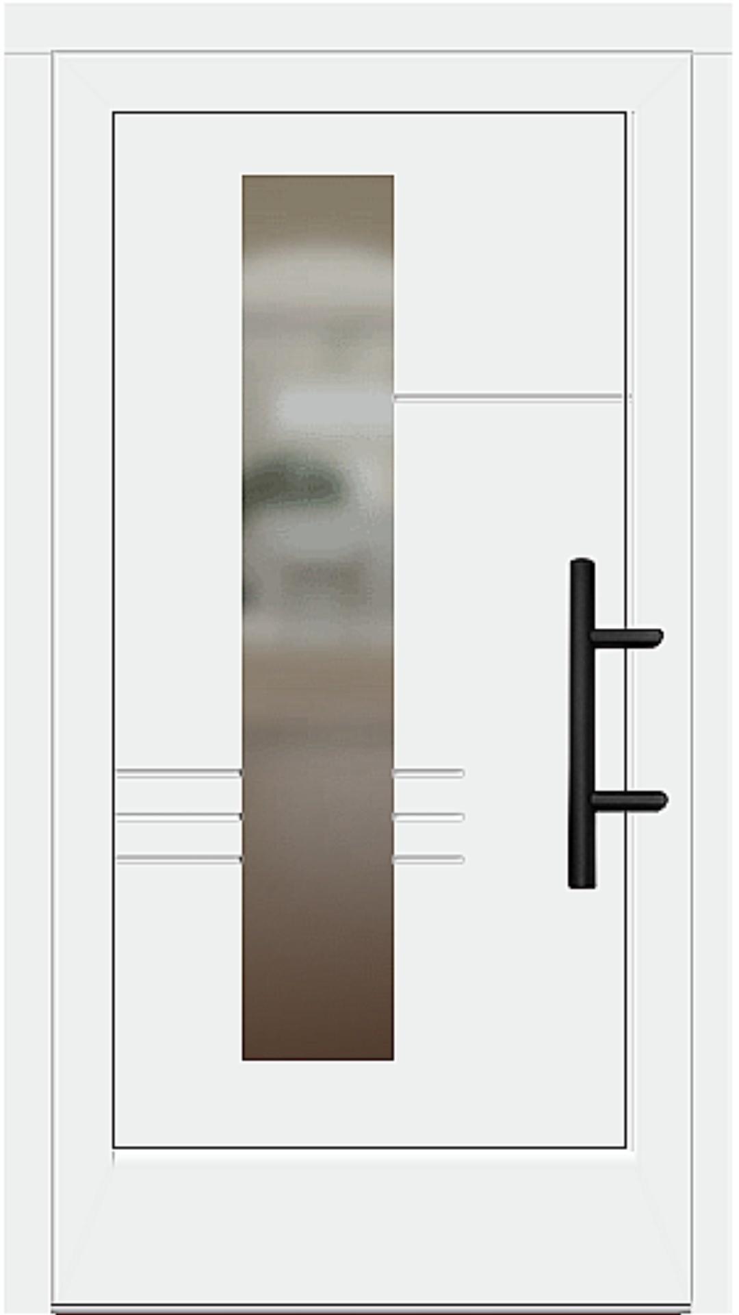 Holz Haustür Modell 56817 weiß