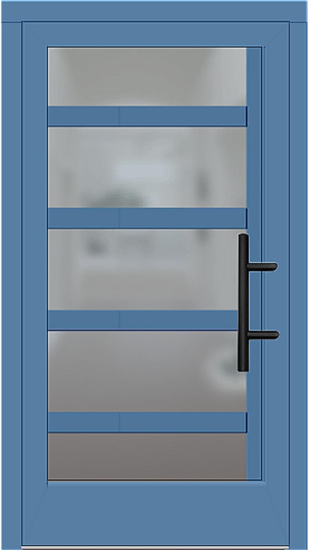 Holz Haustür Modell 5740 lichtblau