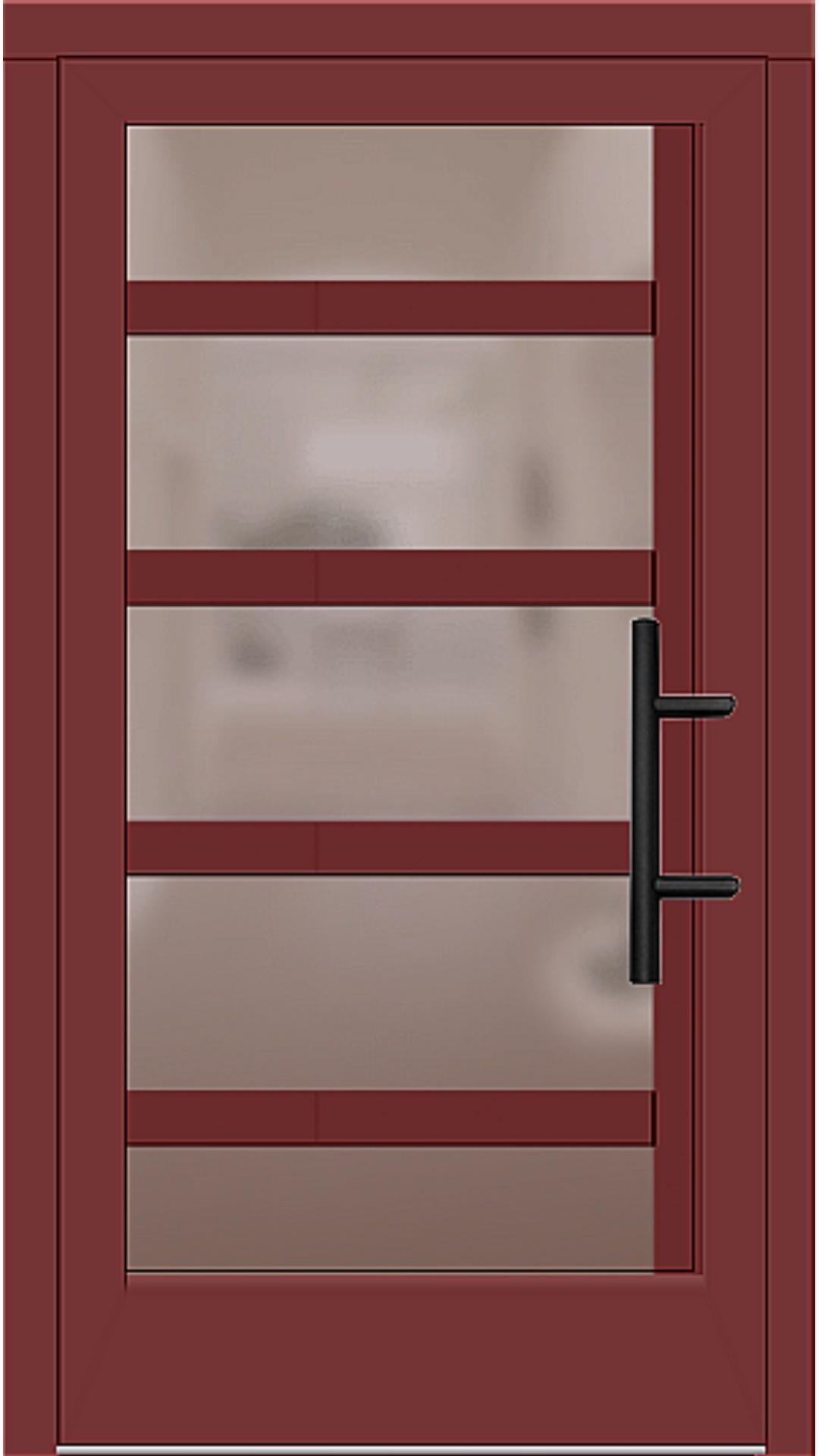 Holz Haustür Modell 5740 rubinrot