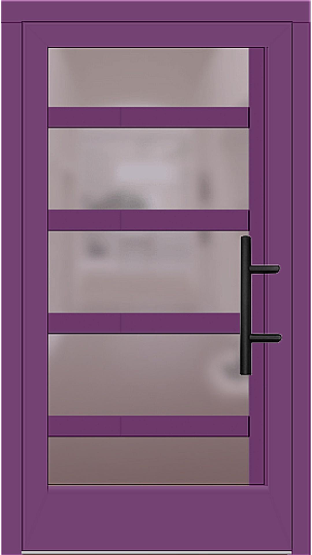 Holz Haustür Modell 5740 singalviolett