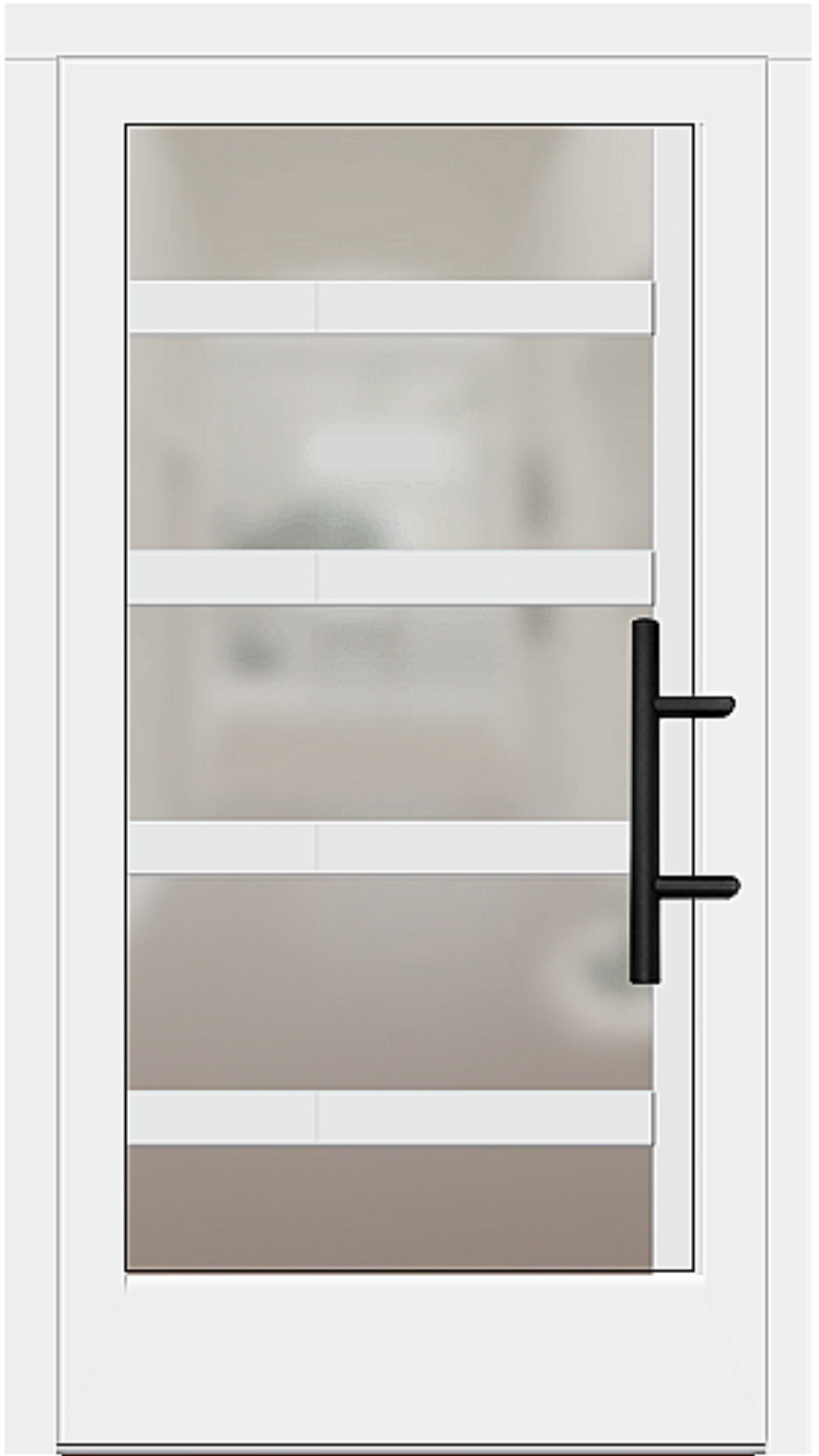 Holz Haustür Modell 5740 weiß