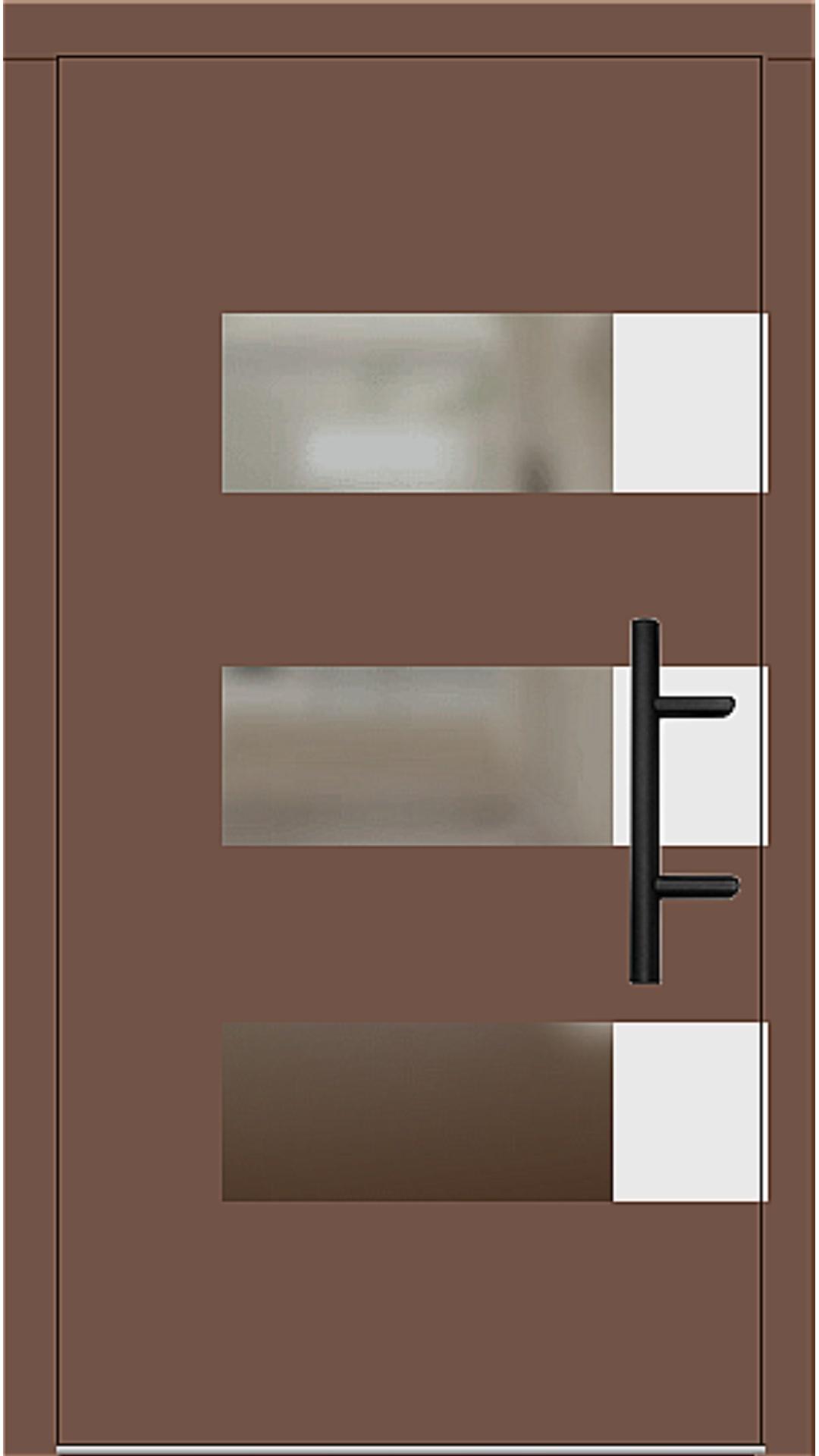 Holz Haustür Modell 70170 lehmbraun