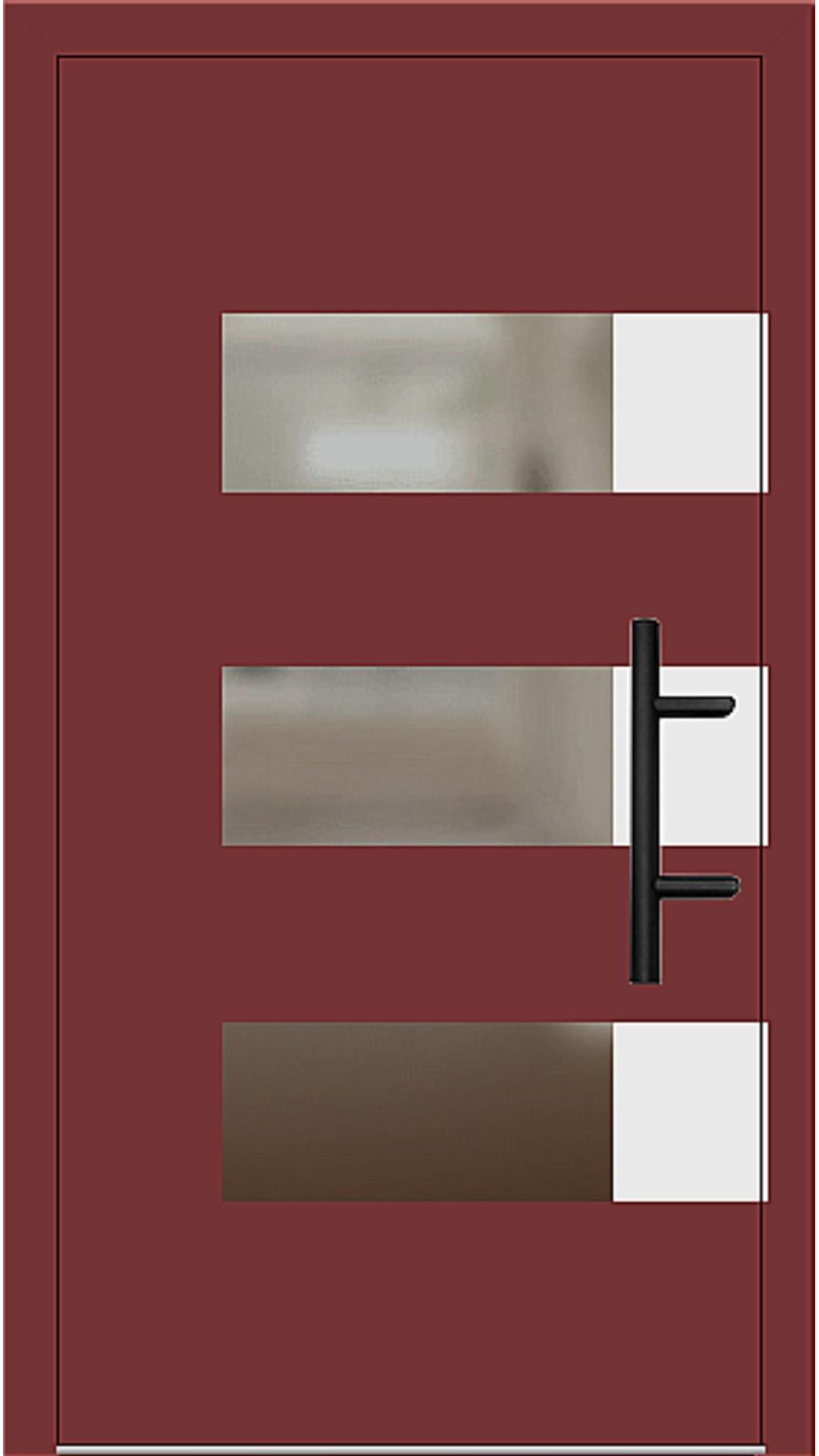 Holz Haustür Modell 70170 rubinrot