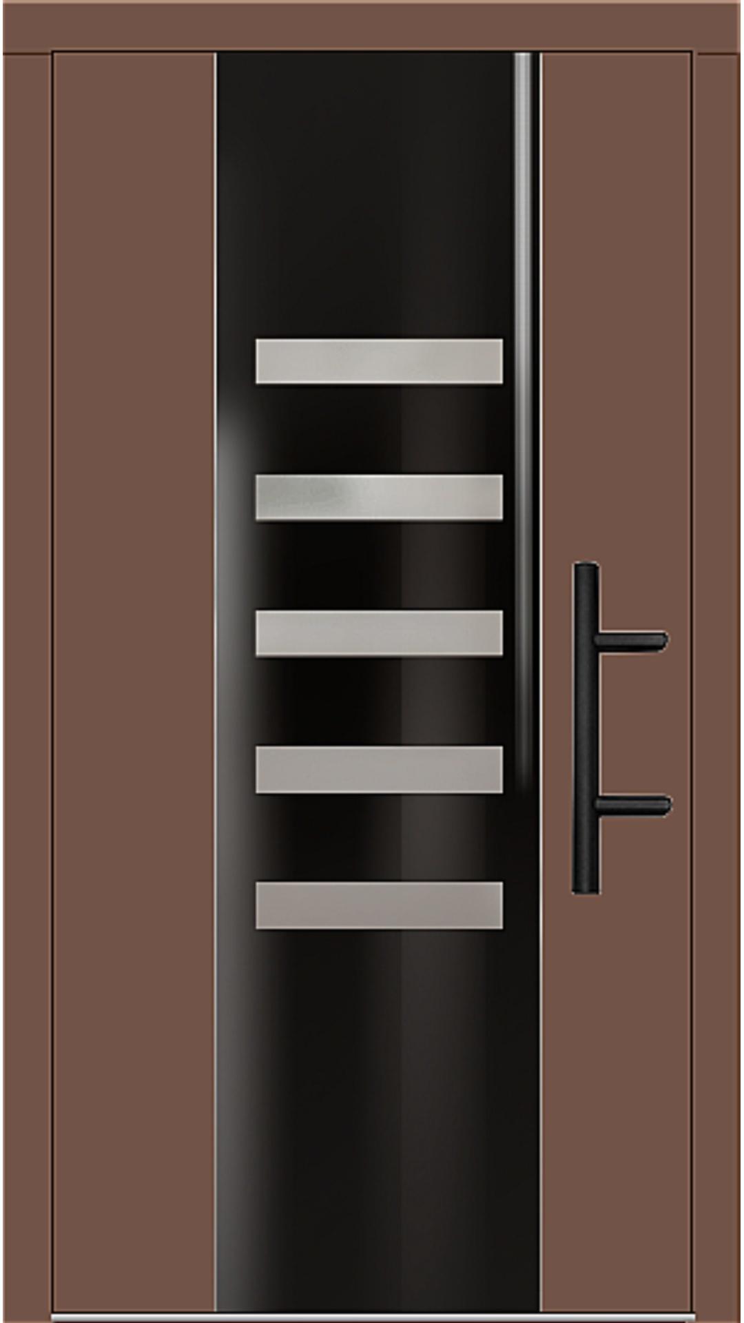Holz Haustür Modell 70210 lehmbraun