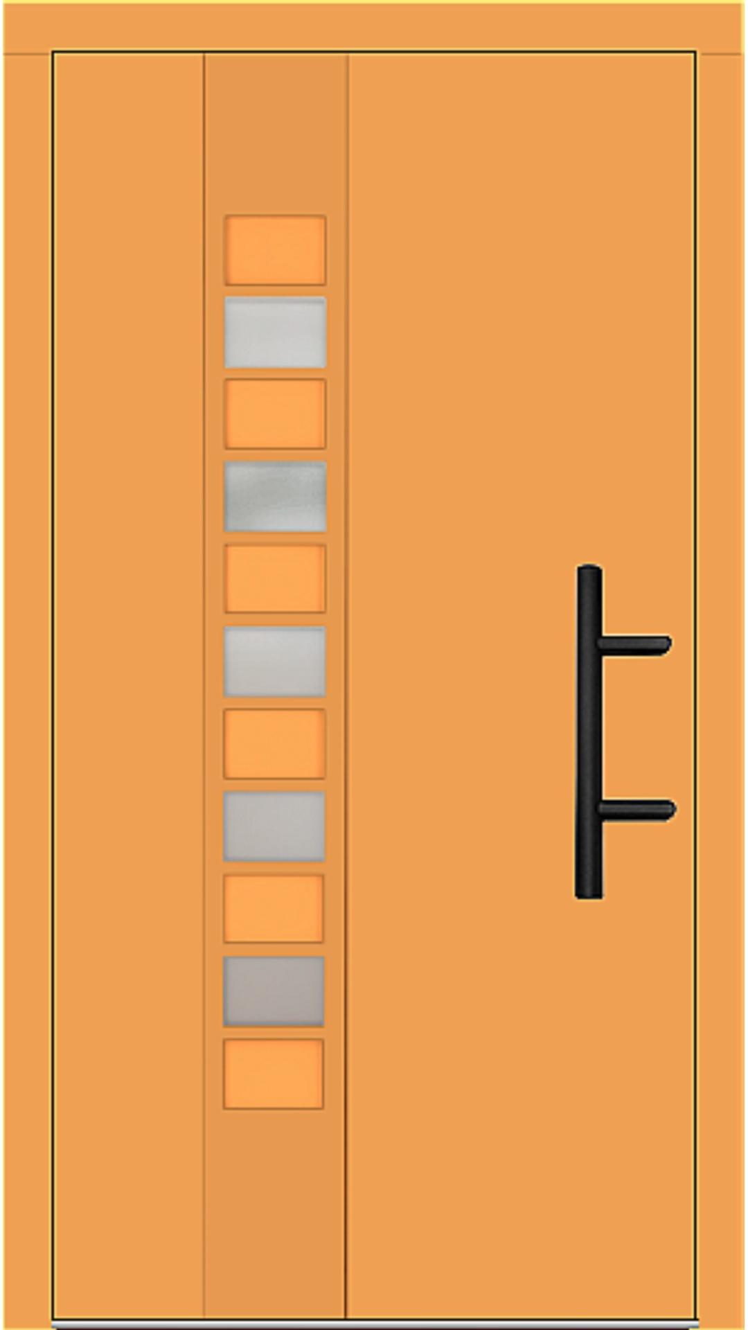 Holz Haustür Modell 70250 safrangelb