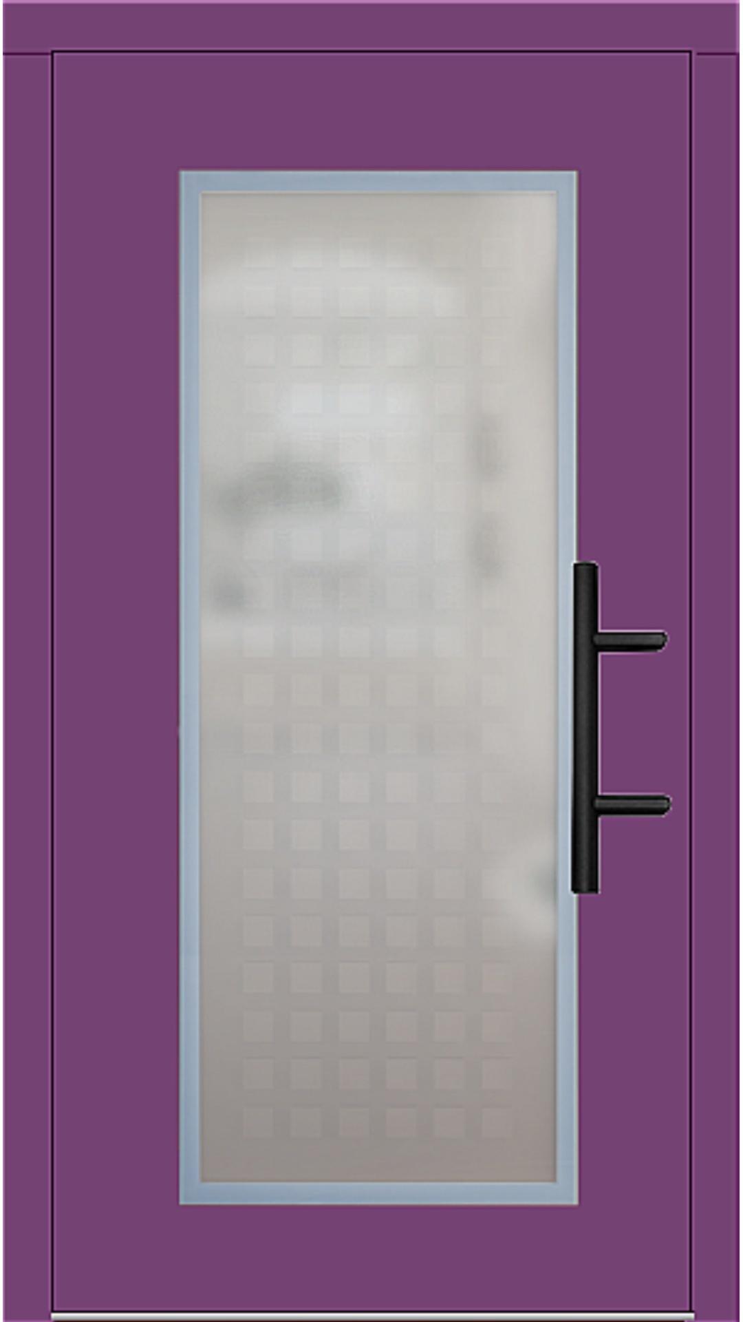 Holz Haustür Modell 70410 singalviolett