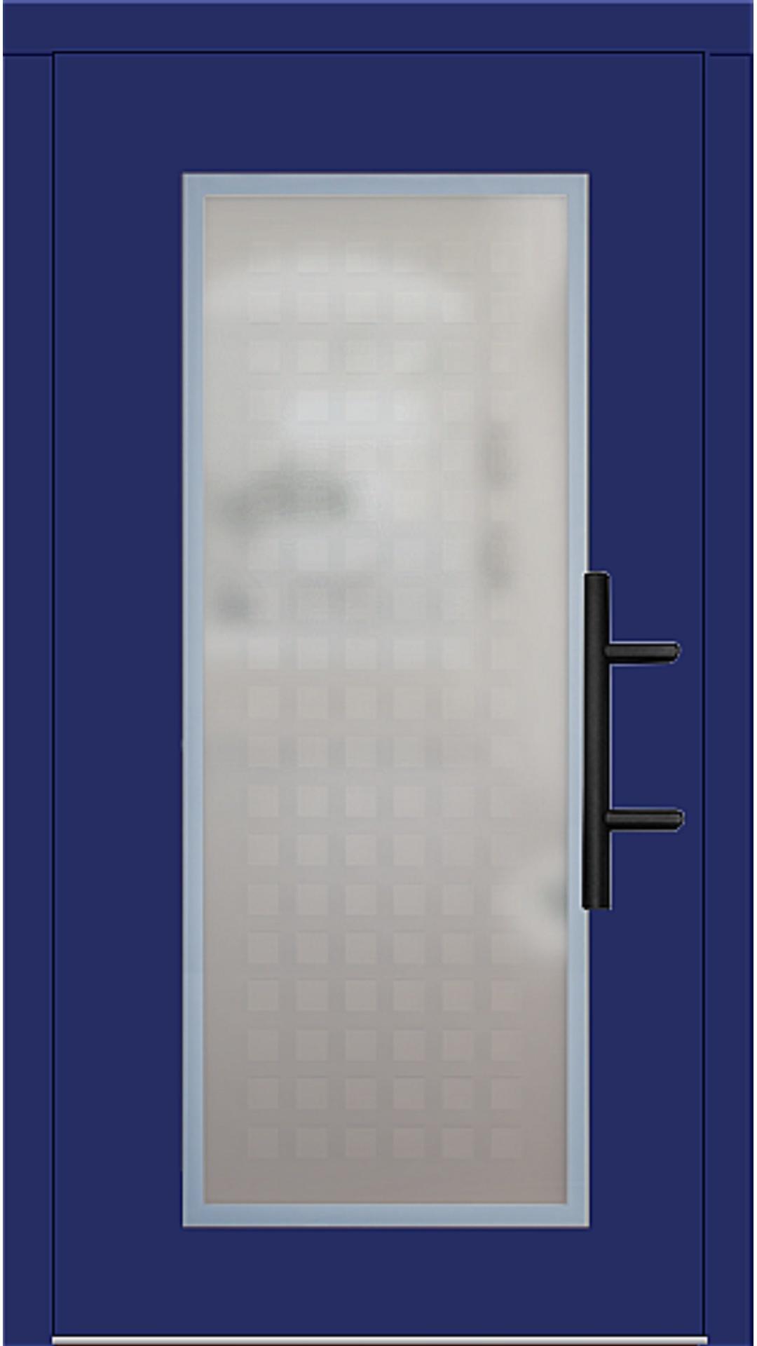 Holz Haustür Modell 70410 ultramarinblau