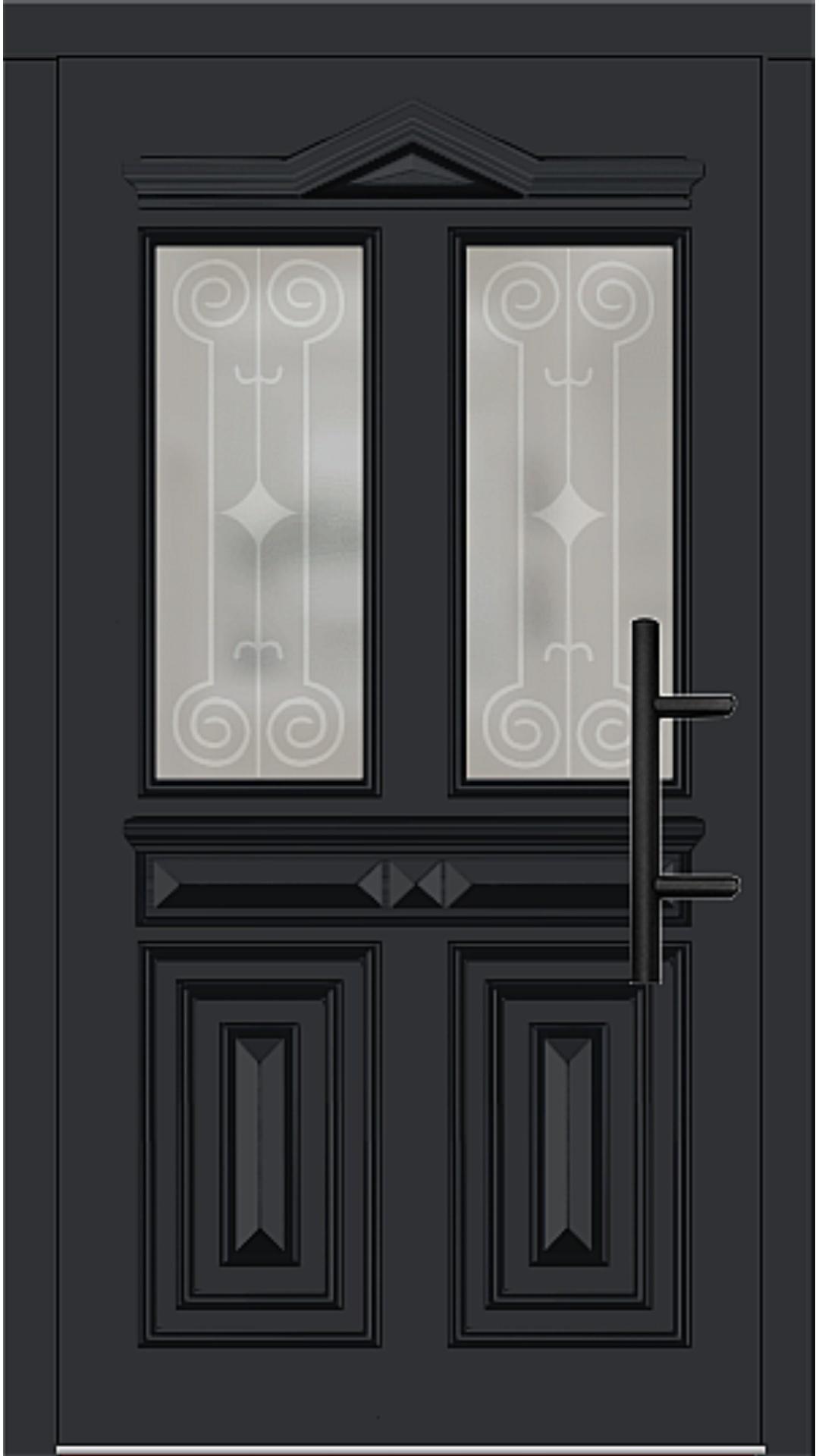 Holz Haustür Modell 7050 schwarz