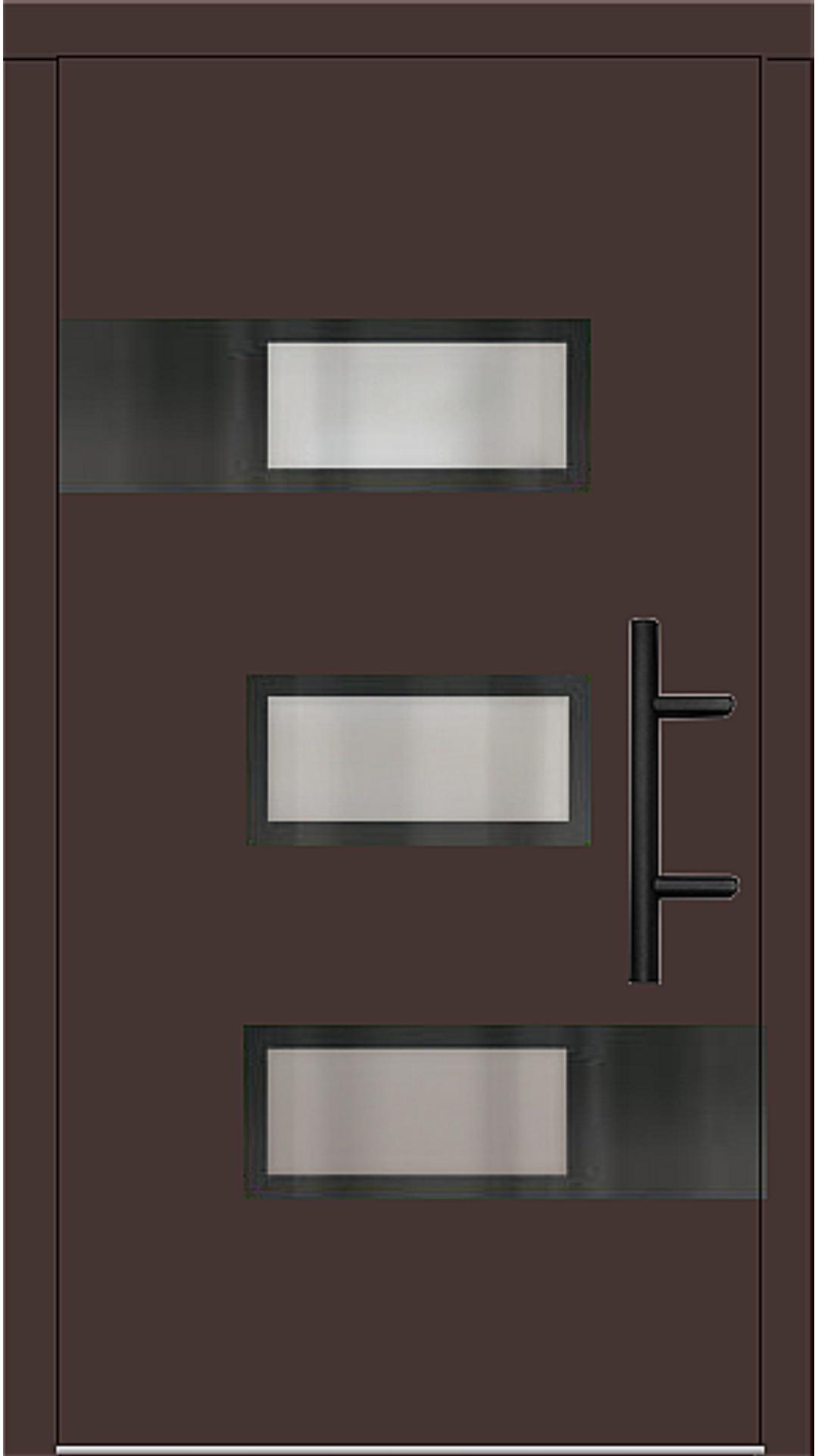 Holz Haustür Modell 70530 mahagonibraun